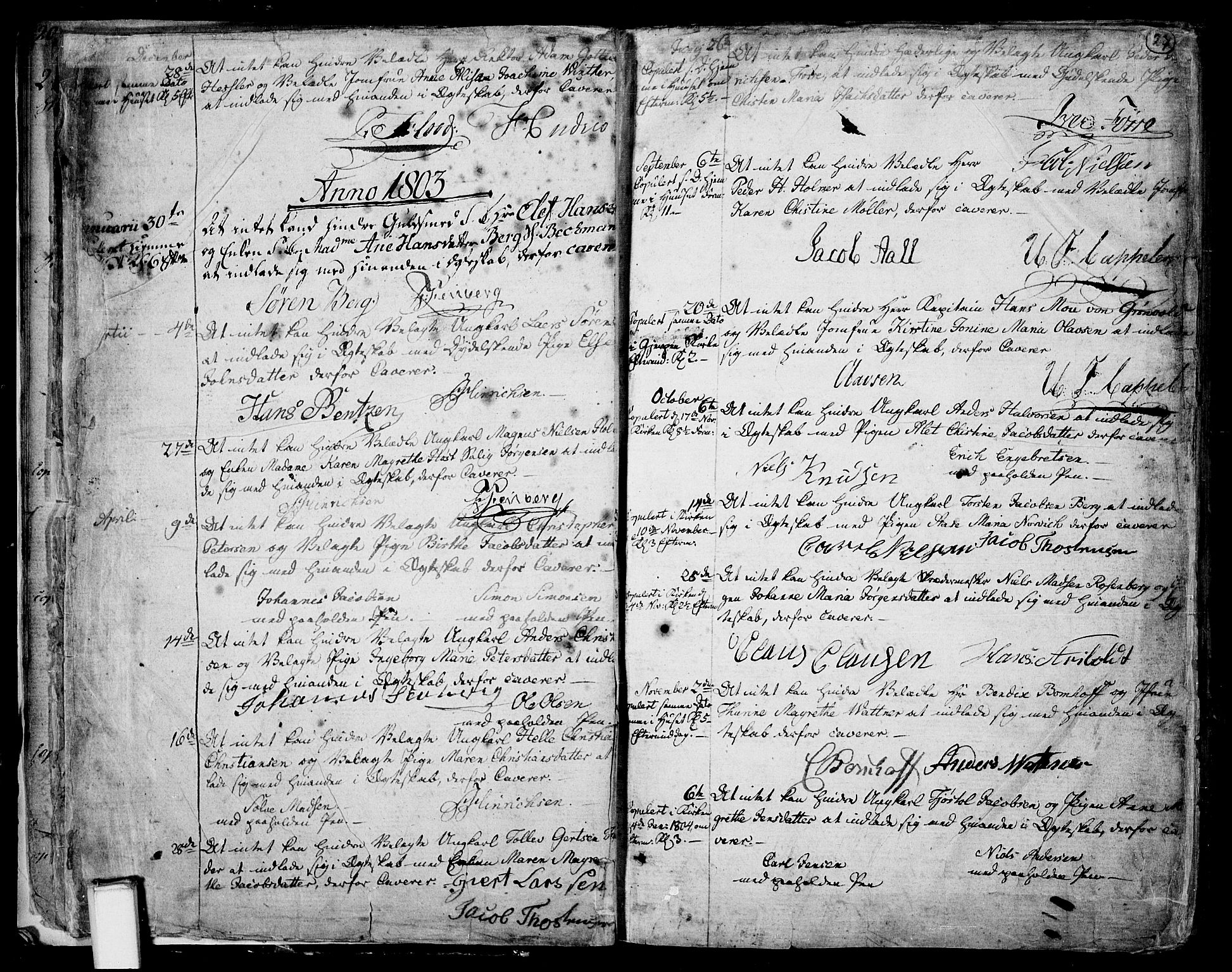 SAKO, Skien kirkebøker, F/Fa/L0004: Ministerialbok nr. 4, 1792-1814, s. 26-27