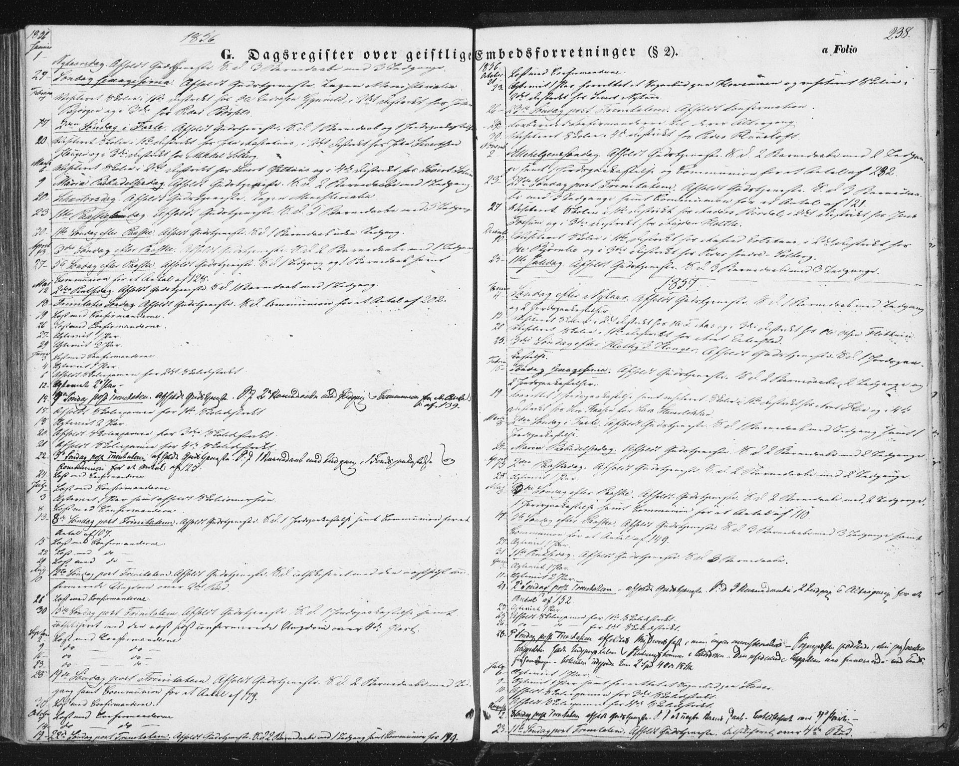 SAT, Ministerialprotokoller, klokkerbøker og fødselsregistre - Sør-Trøndelag, 689/L1038: Ministerialbok nr. 689A03, 1848-1872, s. 238