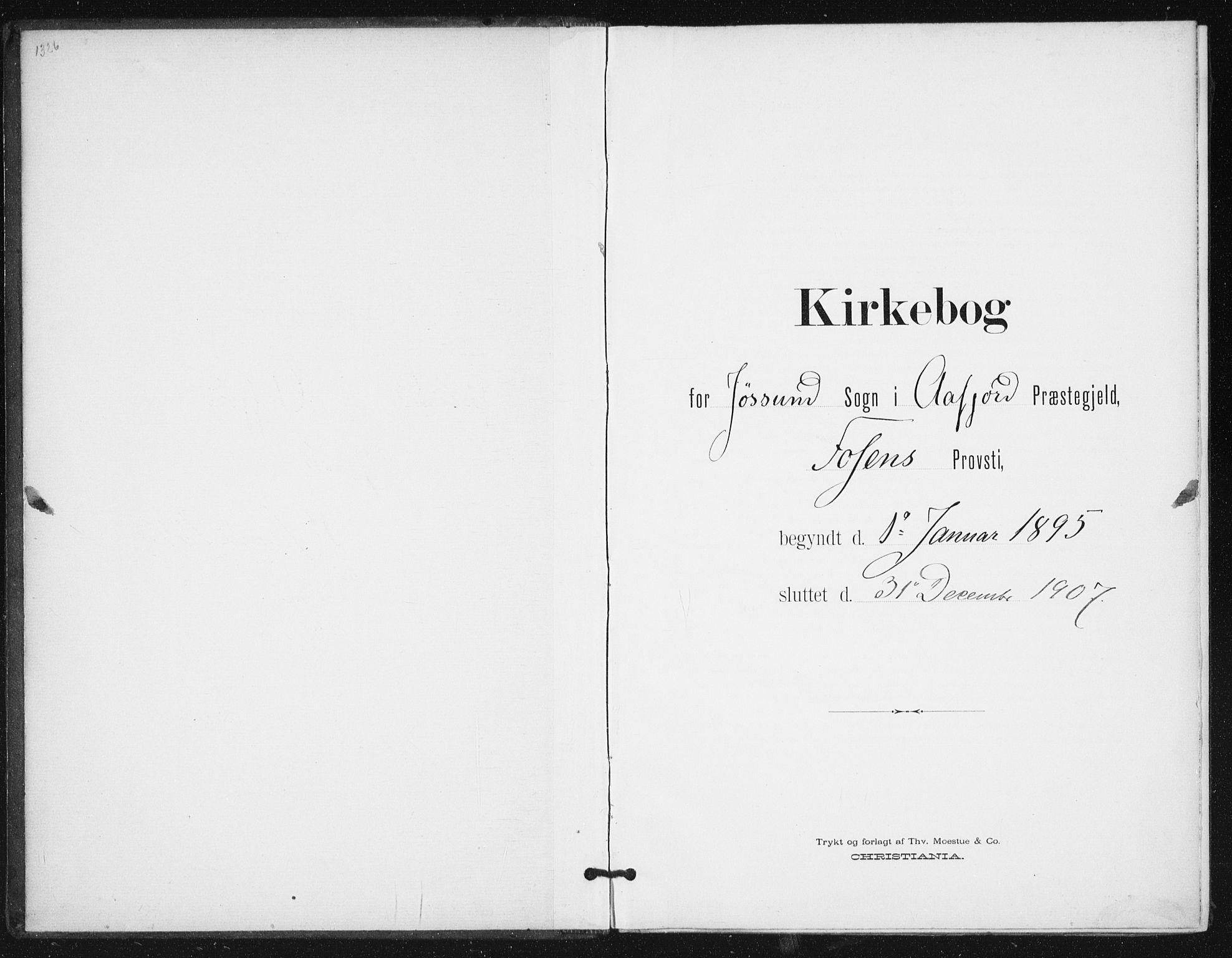 SAT, Ministerialprotokoller, klokkerbøker og fødselsregistre - Sør-Trøndelag, 654/L0664: Ministerialbok nr. 654A02, 1895-1907