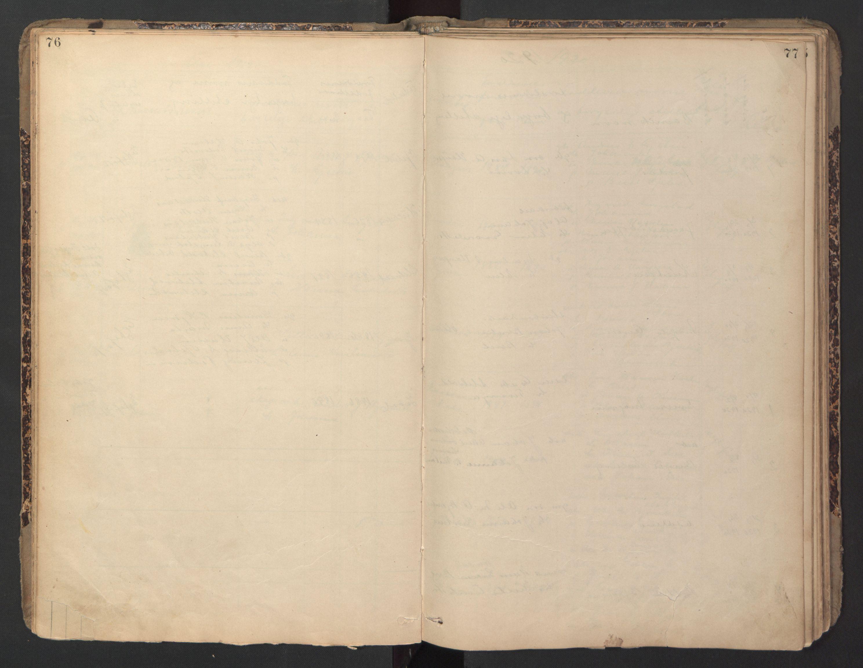 SAT, Ministerialprotokoller, klokkerbøker og fødselsregistre - Sør-Trøndelag, 670/L0837: Klokkerbok nr. 670C01, 1905-1946, s. 76-77