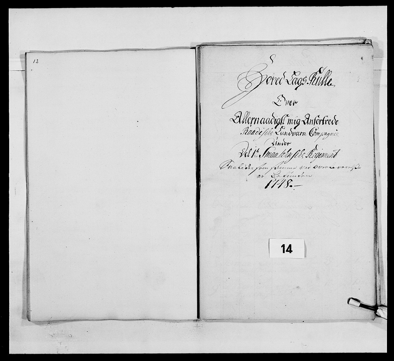 RA, Kommanderende general (KG I) med Det norske krigsdirektorium, E/Ea/L0495: 1. Smålenske regiment, 1732-1763, s. 150