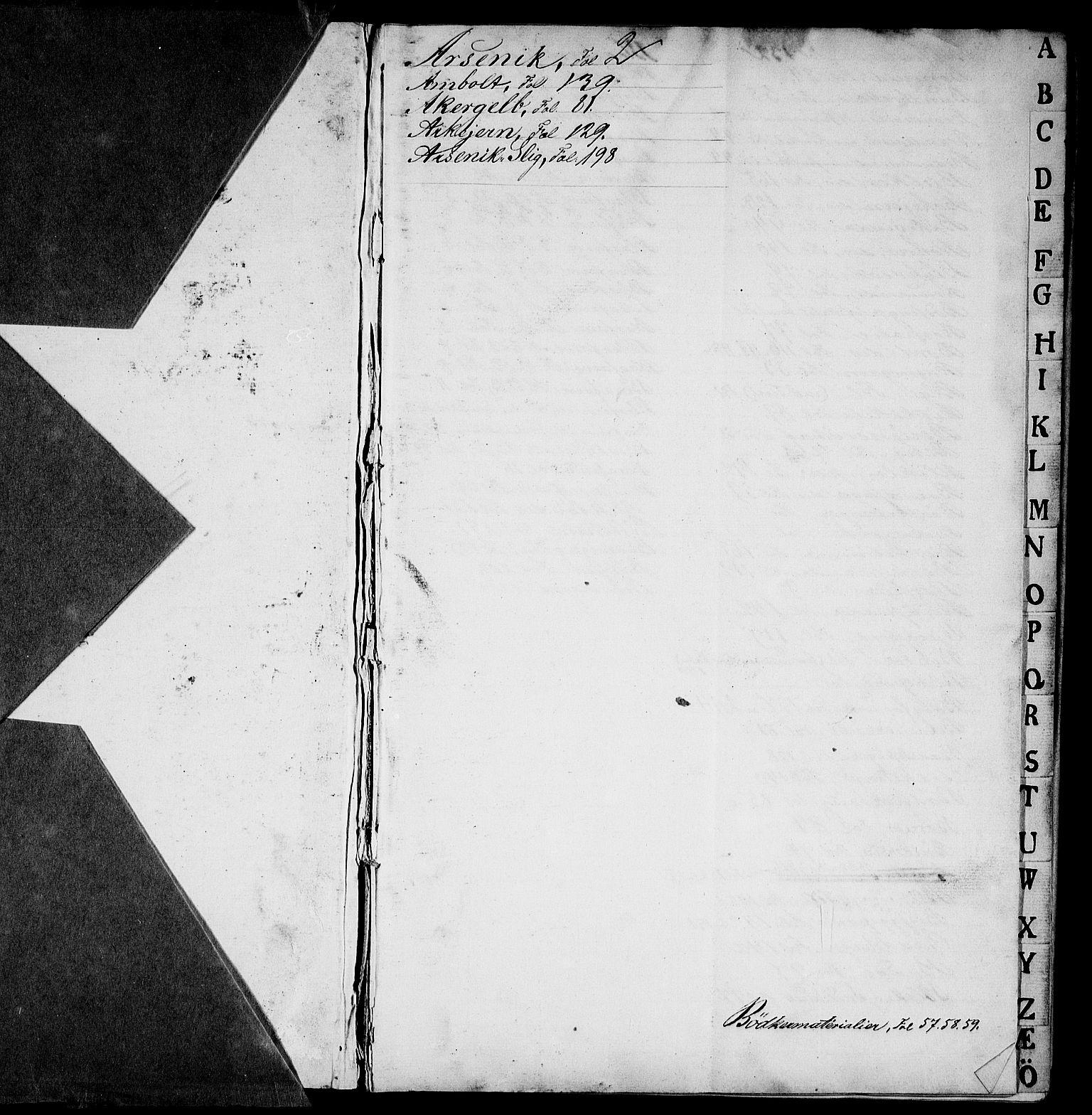 RA, Modums Blaafarveværk, G/Gd/Gdb/L0195: Materialbok, 1836-1839, s. 2