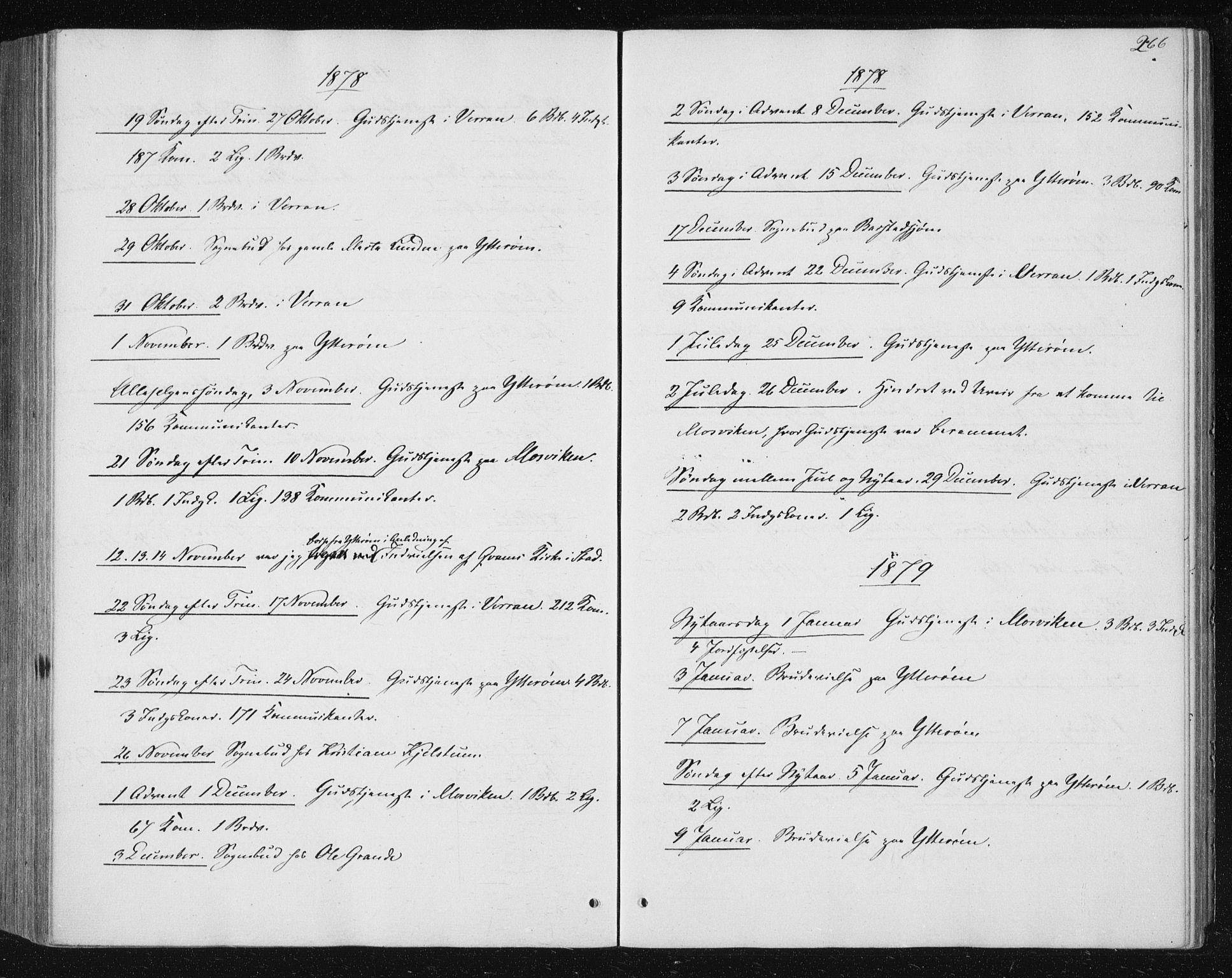 SAT, Ministerialprotokoller, klokkerbøker og fødselsregistre - Nord-Trøndelag, 722/L0219: Ministerialbok nr. 722A06, 1868-1880, s. 266