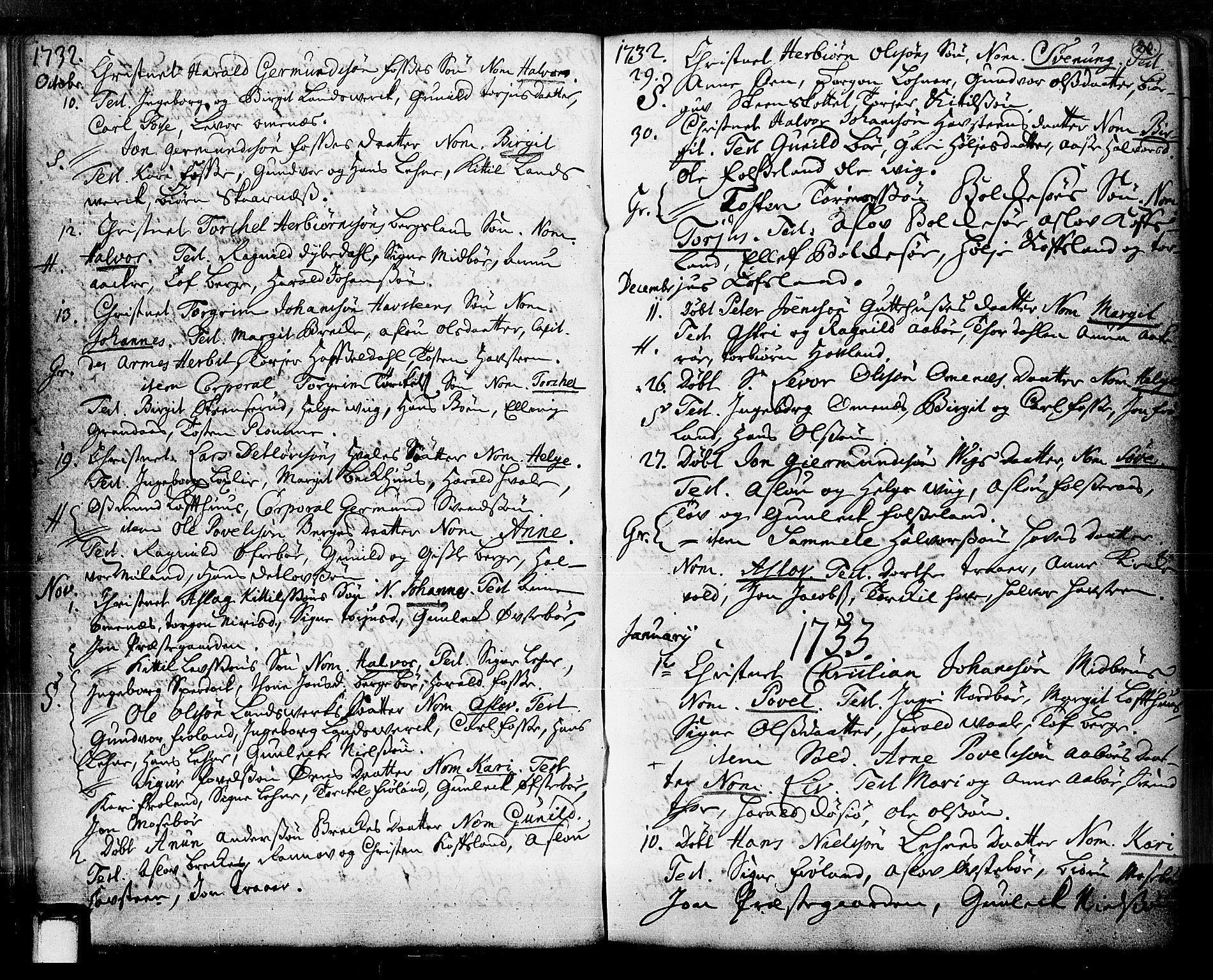 SAKO, Hjartdal kirkebøker, F/Fa/L0003: Ministerialbok nr. I 3, 1727-1775, s. 20