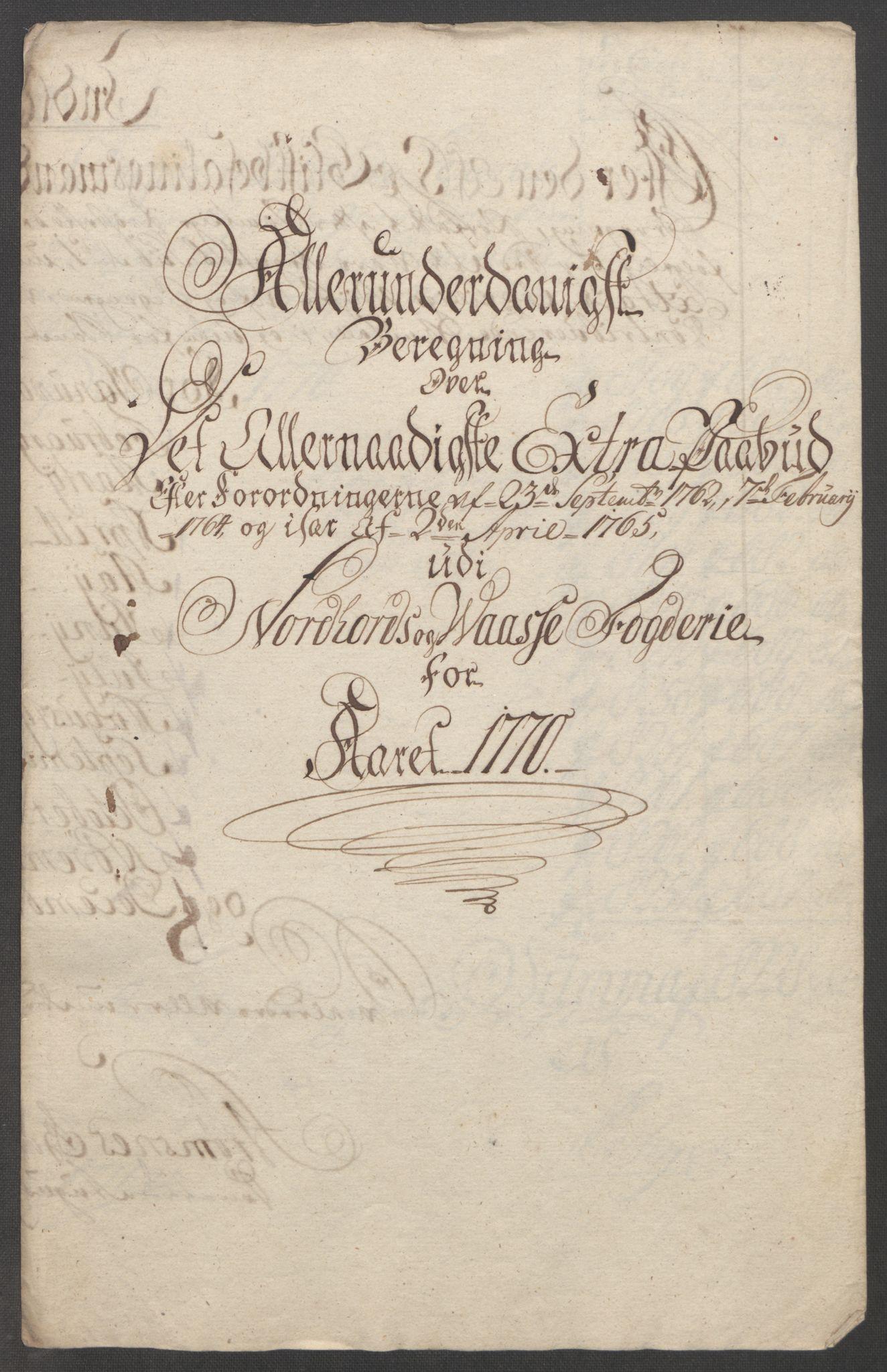 RA, Rentekammeret inntil 1814, Reviderte regnskaper, Fogderegnskap, R51/L3303: Ekstraskatten Nordhordland og Voss, 1762-1772, s. 399