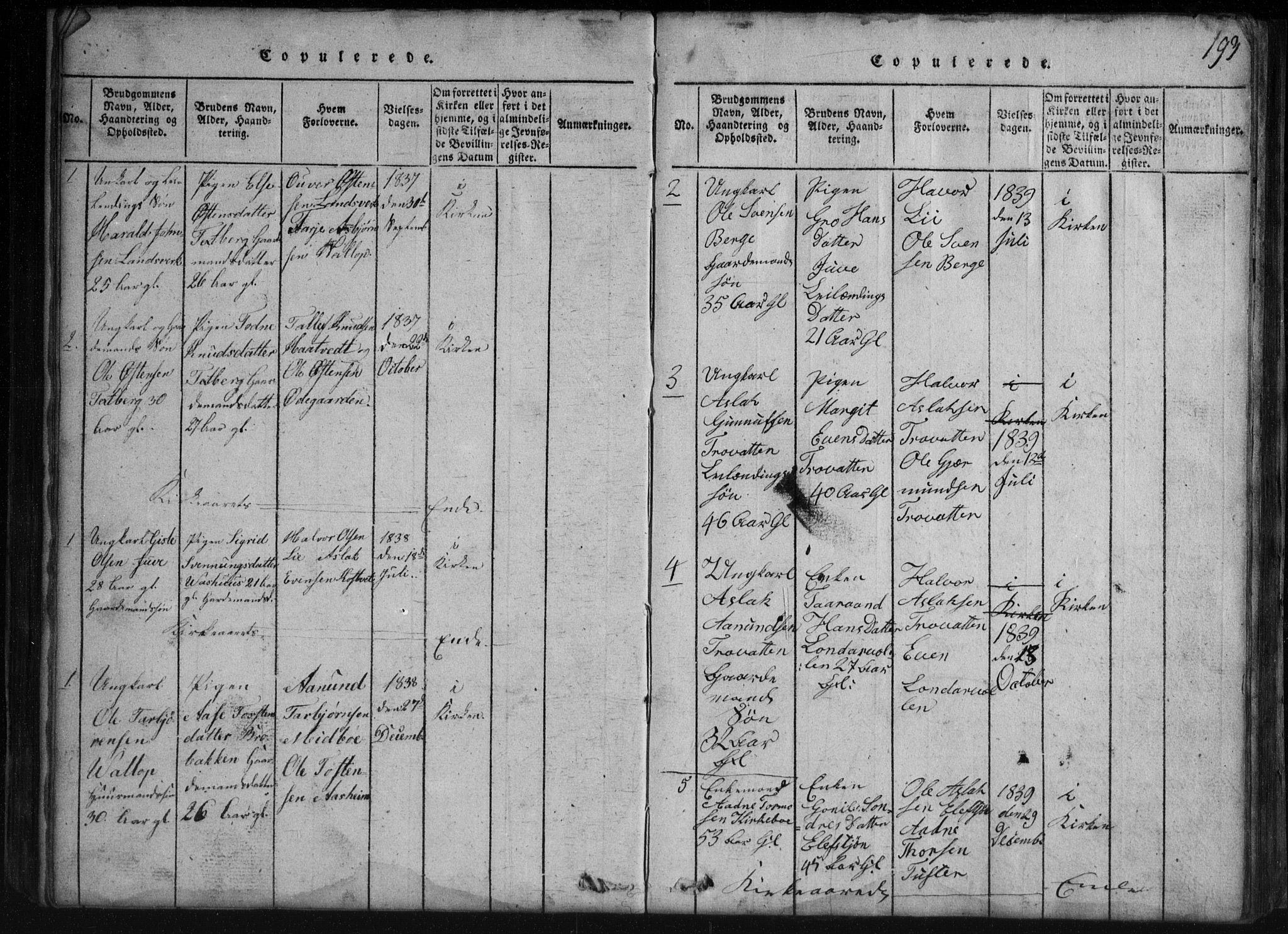 SAKO, Rauland kirkebøker, G/Gb/L0001: Klokkerbok nr. II 1, 1815-1886, s. 193