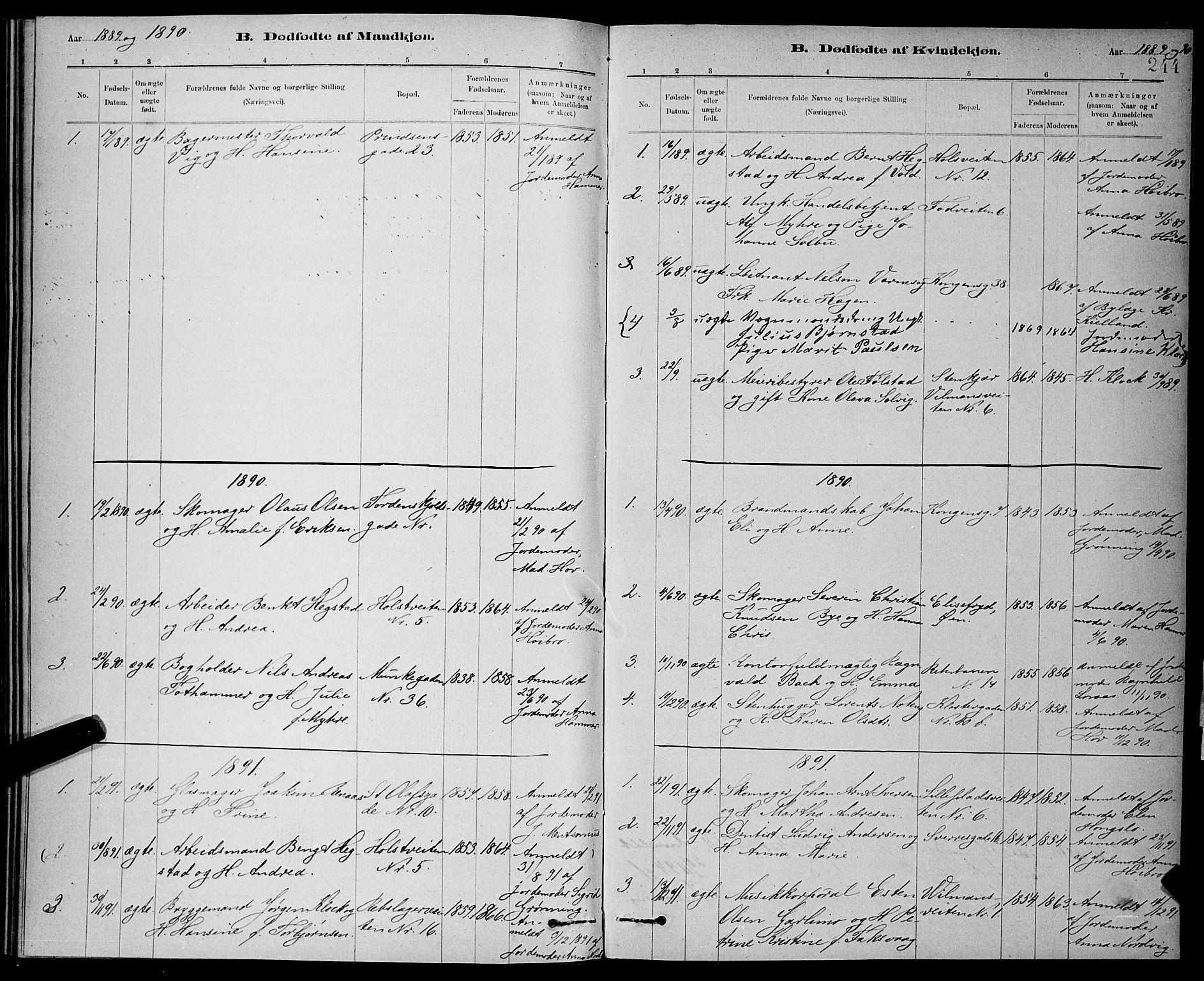 SAT, Ministerialprotokoller, klokkerbøker og fødselsregistre - Sør-Trøndelag, 601/L0092: Klokkerbok nr. 601C10, 1884-1897, s. 244