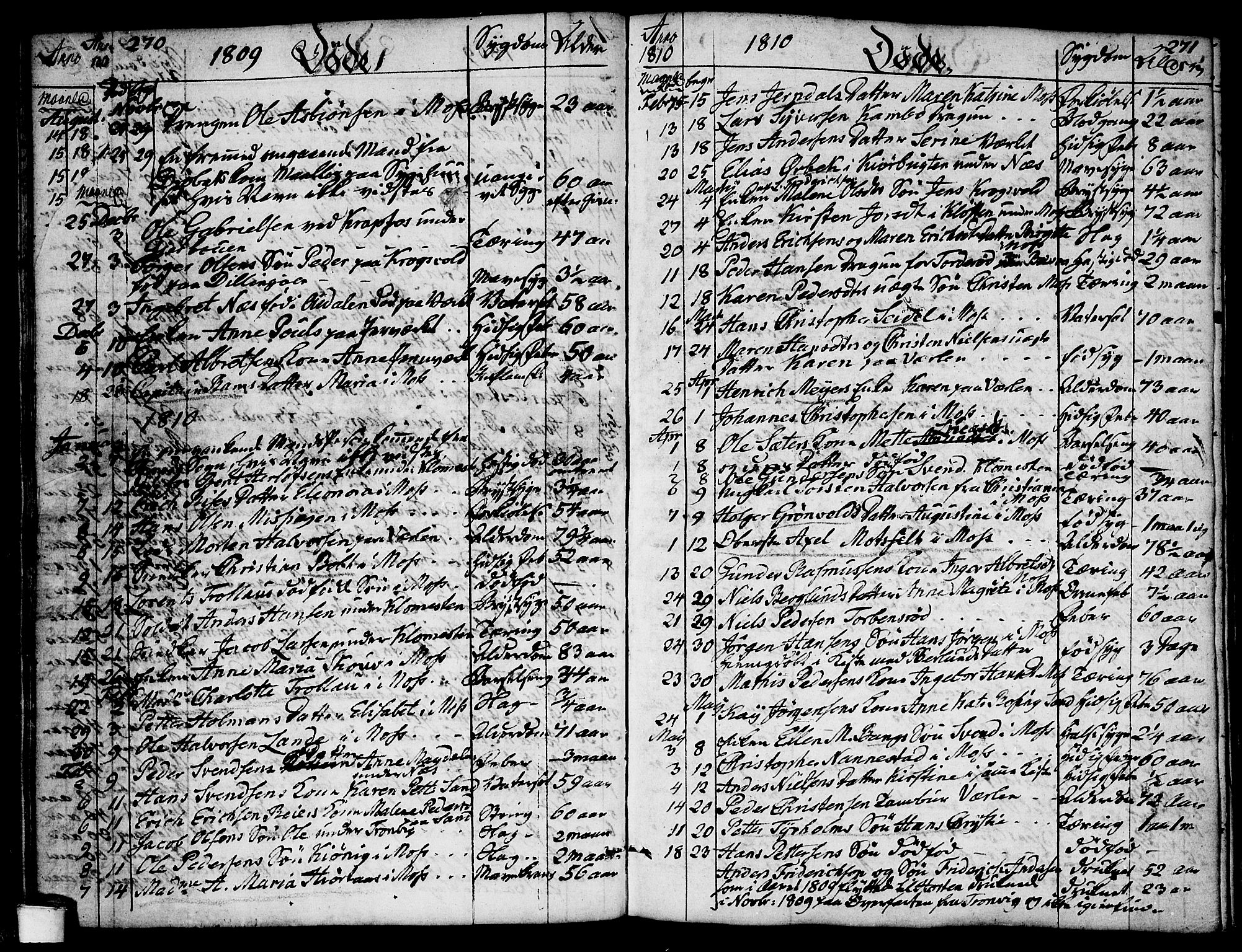 SAO, Moss prestekontor Kirkebøker, F/Fa/Faa/L0003: Ministerialbok nr. I 3, 1779-1814, s. 270-271