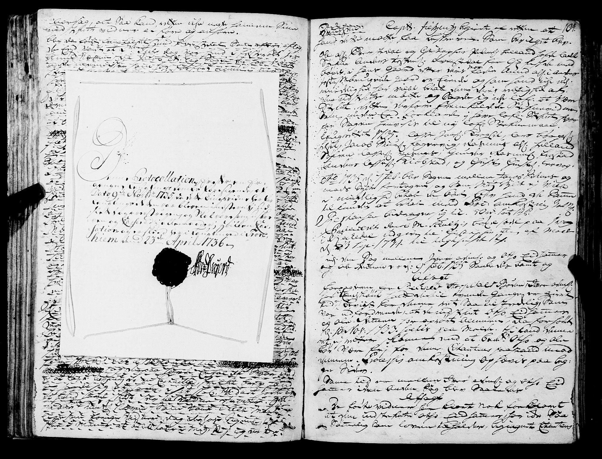 SAT, Romsdal sorenskriveri, 1/1A/L0011: Tingbok, 1732-1740, s. 103b-104a