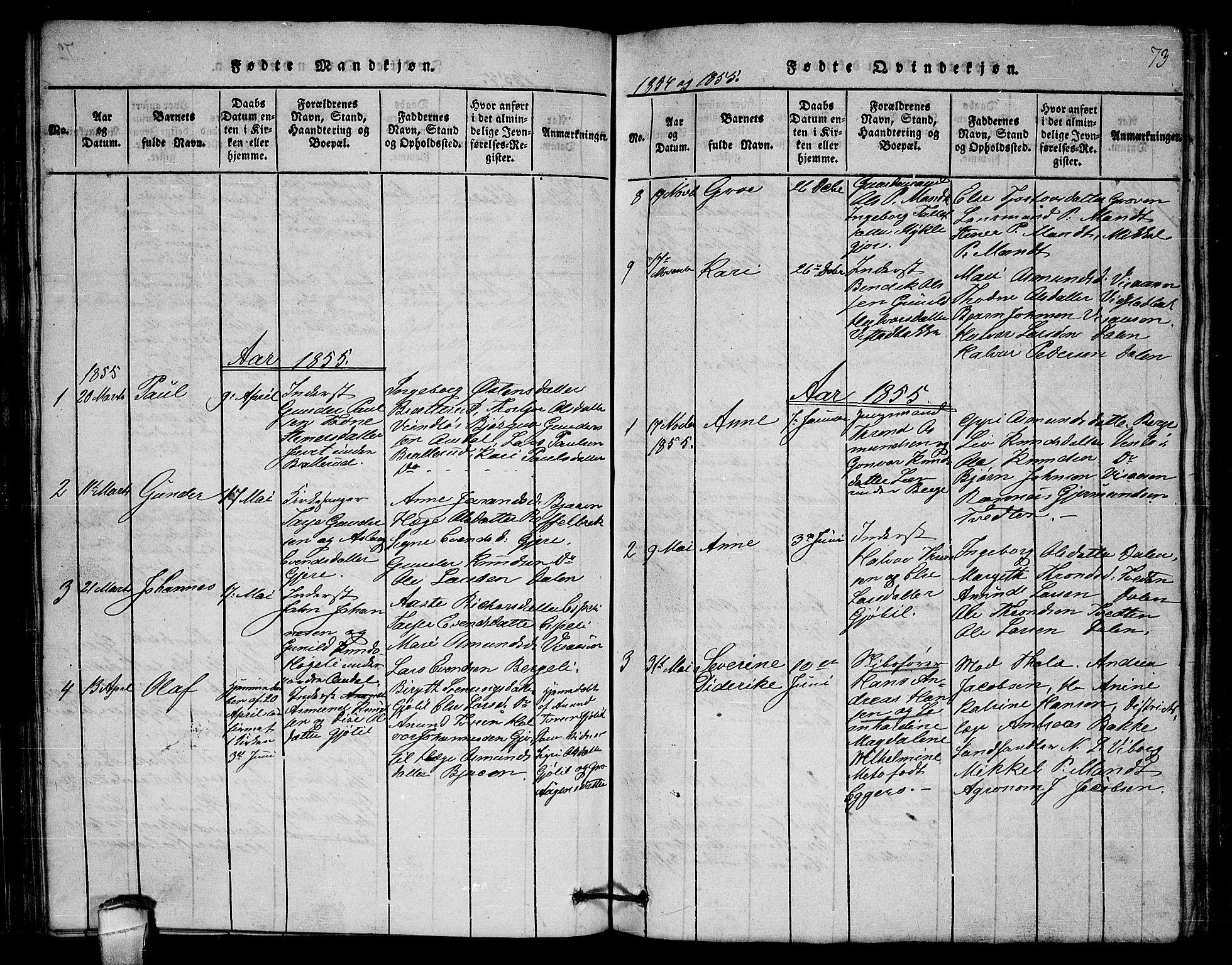 SAKO, Lårdal kirkebøker, G/Gb/L0001: Klokkerbok nr. II 1, 1815-1865, s. 73