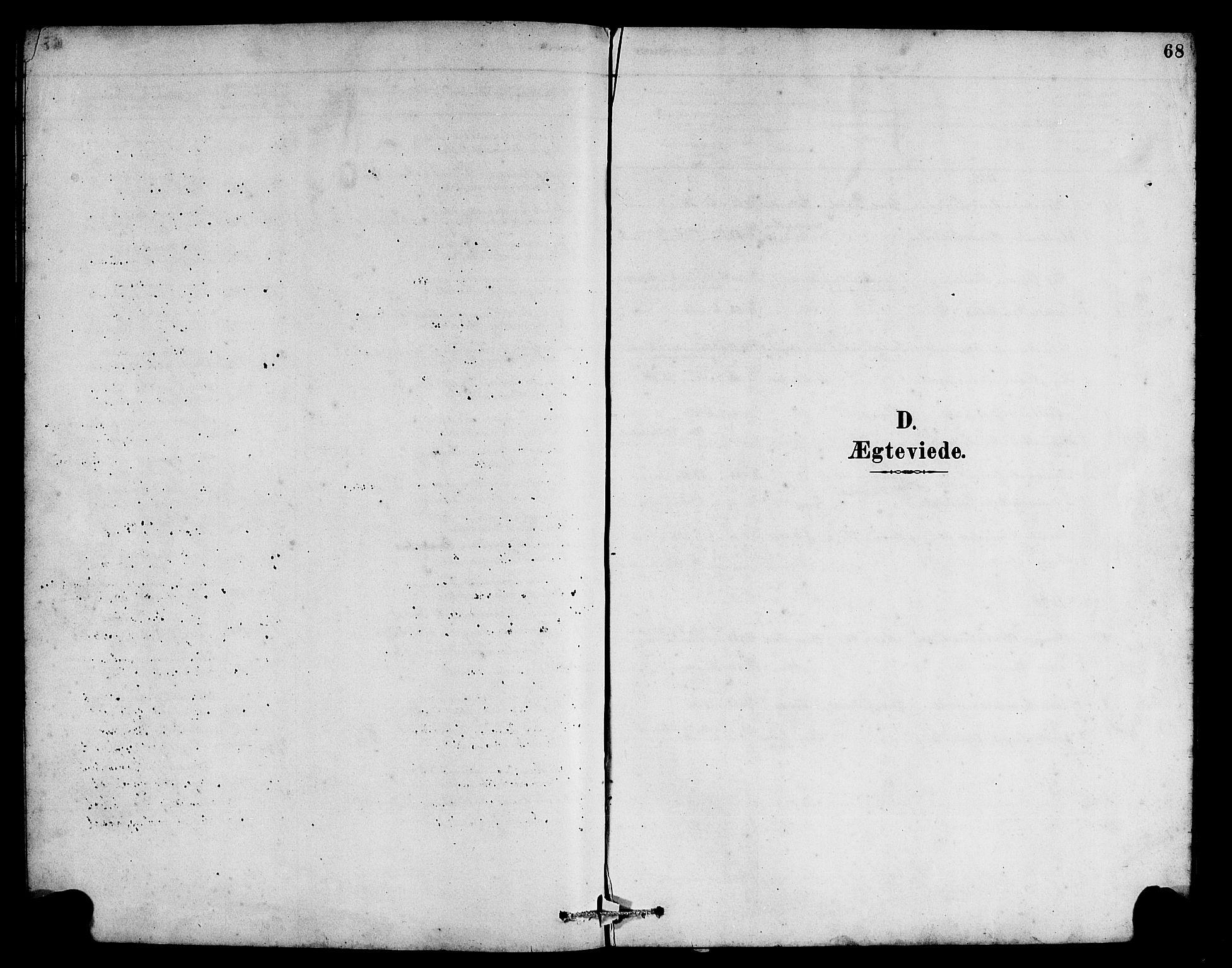 SAB, Hyllestad Sokneprestembete, Klokkerbok nr. B 2, 1889-1915, s. 68