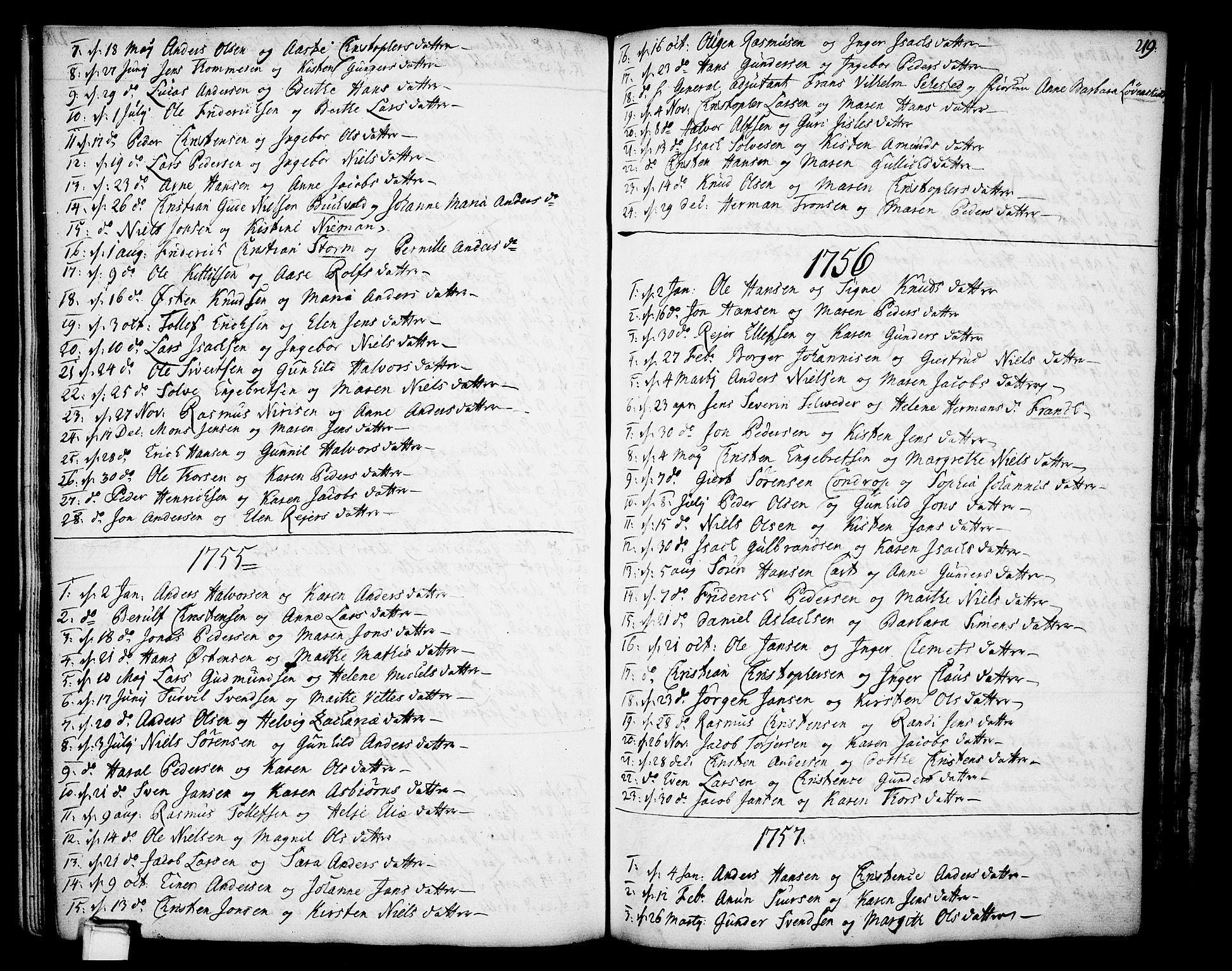 SAKO, Gjerpen kirkebøker, F/Fa/L0002: Ministerialbok nr. 2, 1747-1795, s. 219
