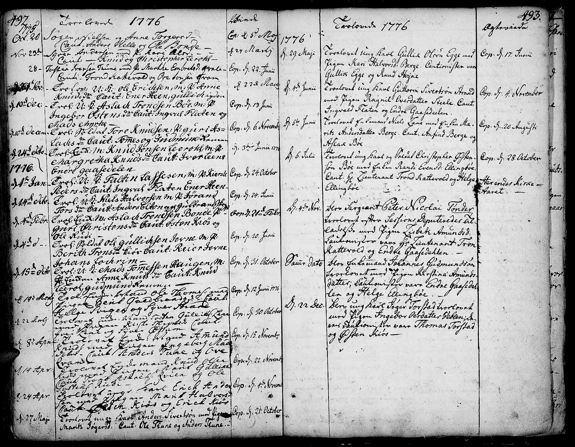 SAH, Vang prestekontor, Valdres, Ministerialbok nr. 1, 1730-1796, s. 492-493