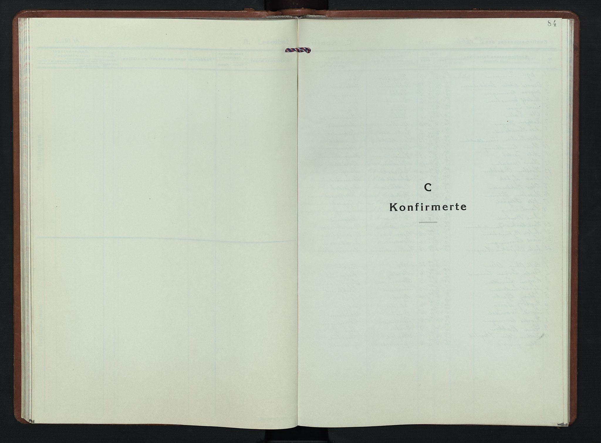 SAH, Nordre Land prestekontor, Klokkerbok nr. 7, 1930-1953, s. 84