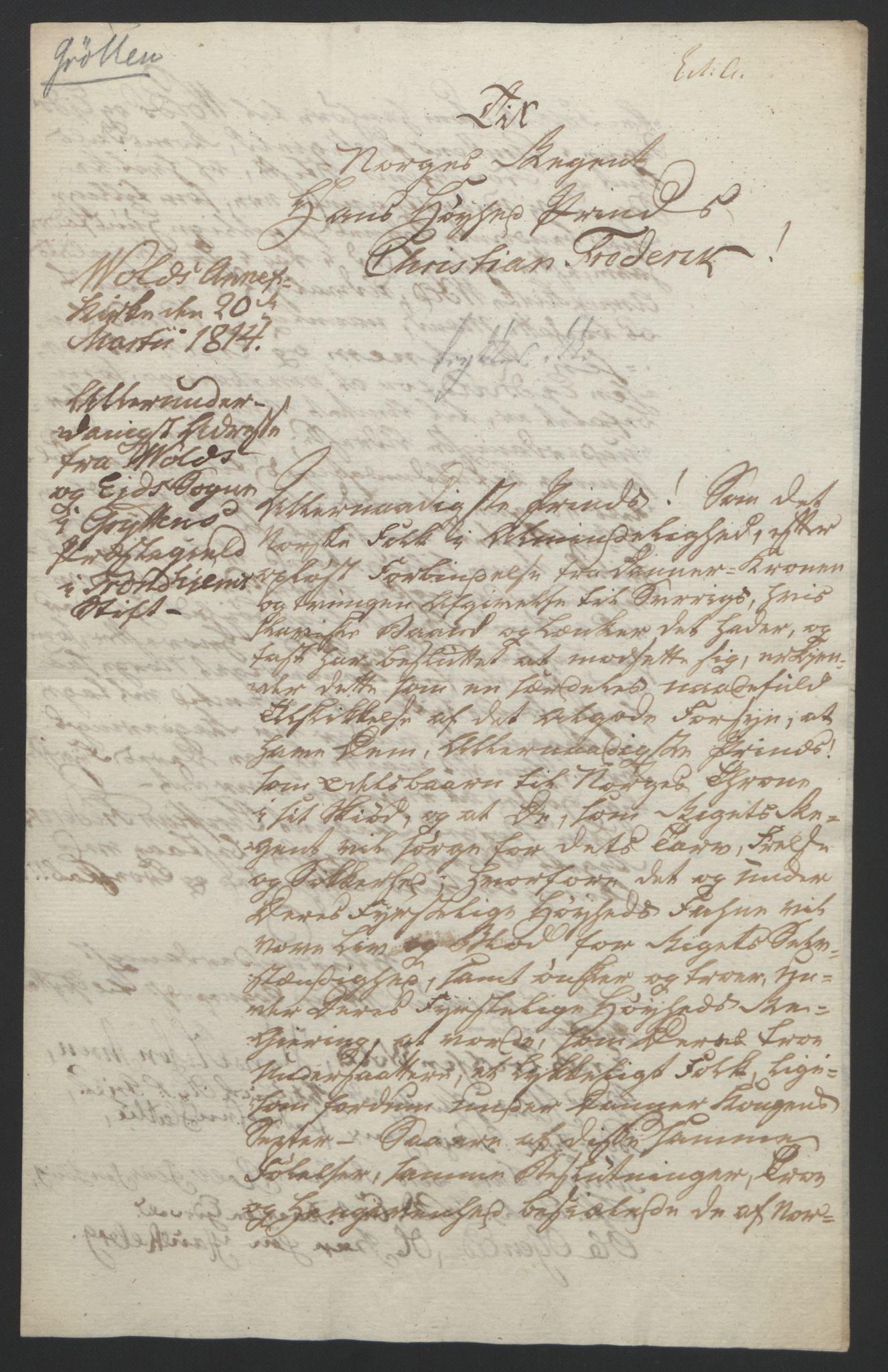 RA, Statsrådssekretariatet, D/Db/L0008: Fullmakter for Eidsvollsrepresentantene i 1814. , 1814, s. 375