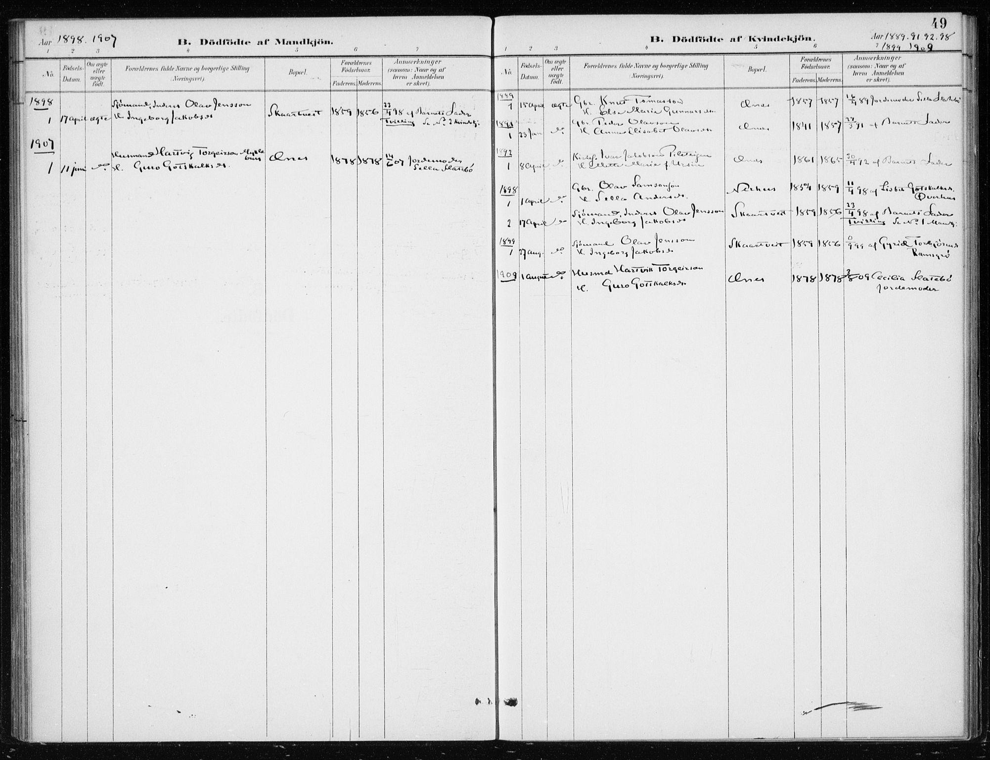 SAB, Kvinnherad Sokneprestembete, H/Haa: Ministerialbok nr. F 1, 1887-1912, s. 49