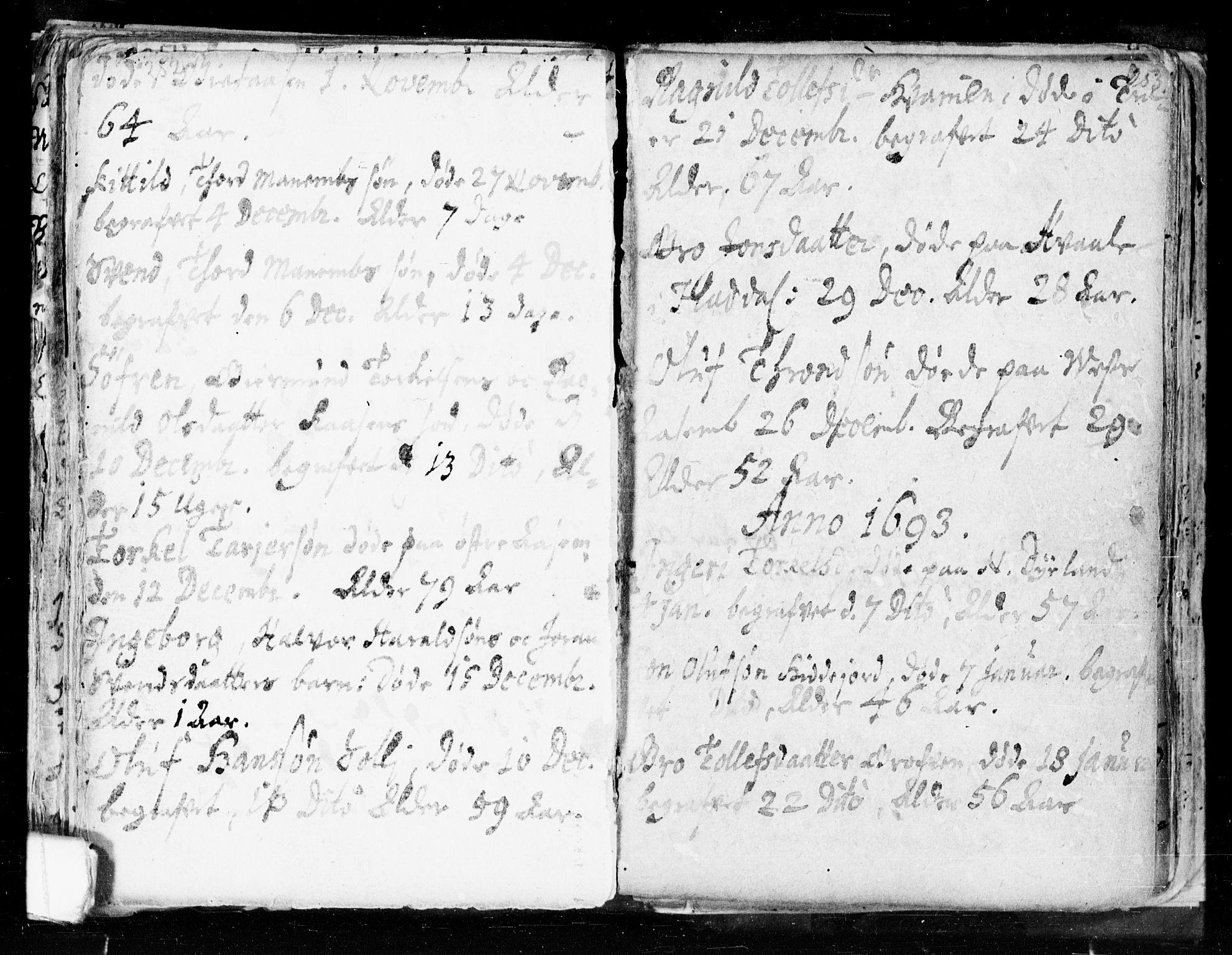 SAKO, Seljord kirkebøker, F/Fa/L0002: Ministerialbok nr. I 2, 1689-1713, s. 252-253