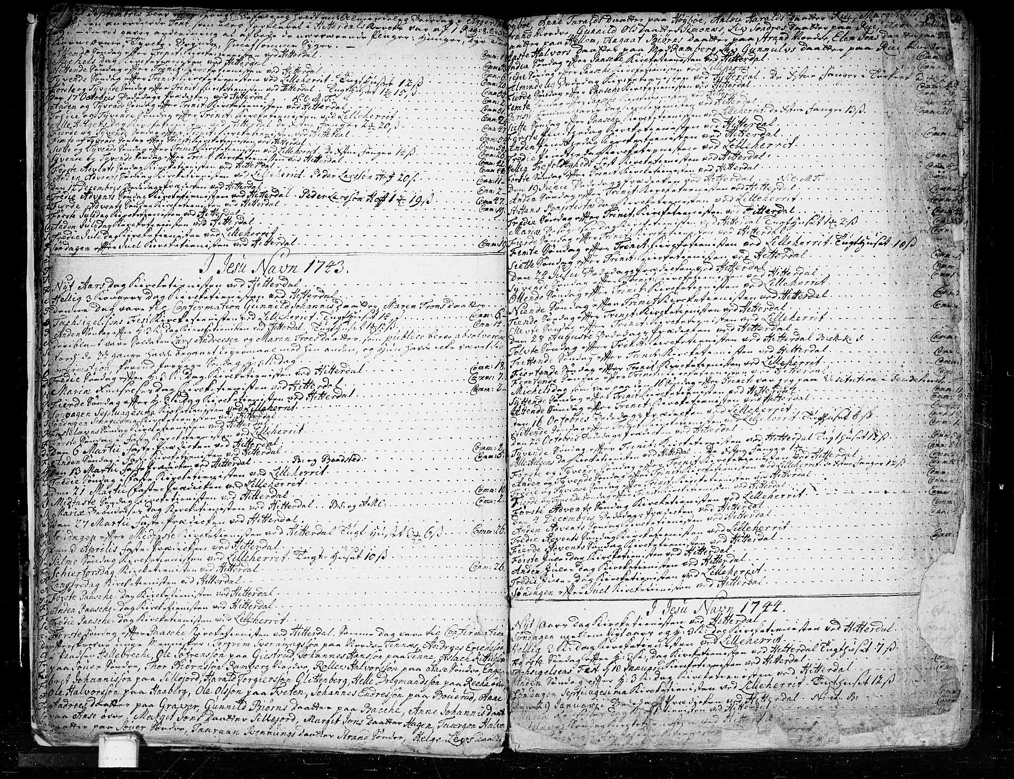 SAKO, Heddal kirkebøker, F/Fa/L0003: Ministerialbok nr. I 3, 1723-1783, s. 19