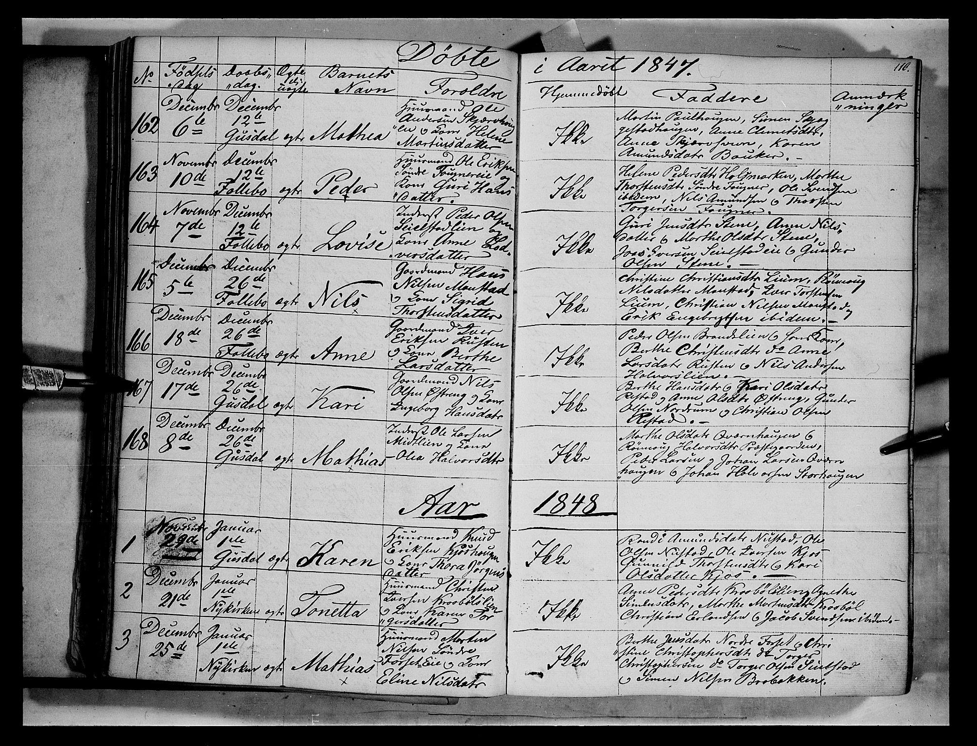 SAH, Gausdal prestekontor, Ministerialbok nr. 7, 1840-1850, s. 110