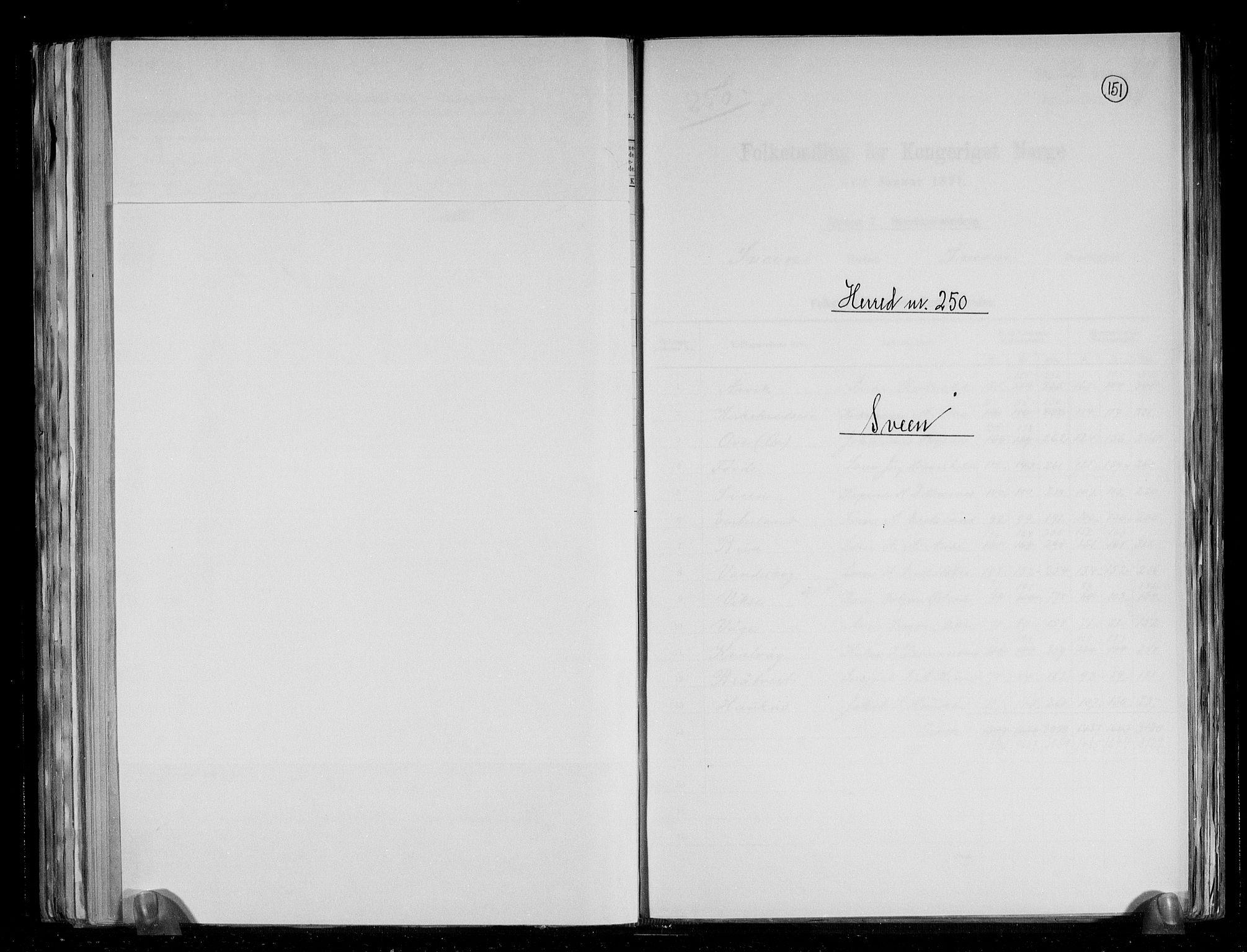RA, Folketelling 1891 for 1216 Sveio herred, 1891, s. 1