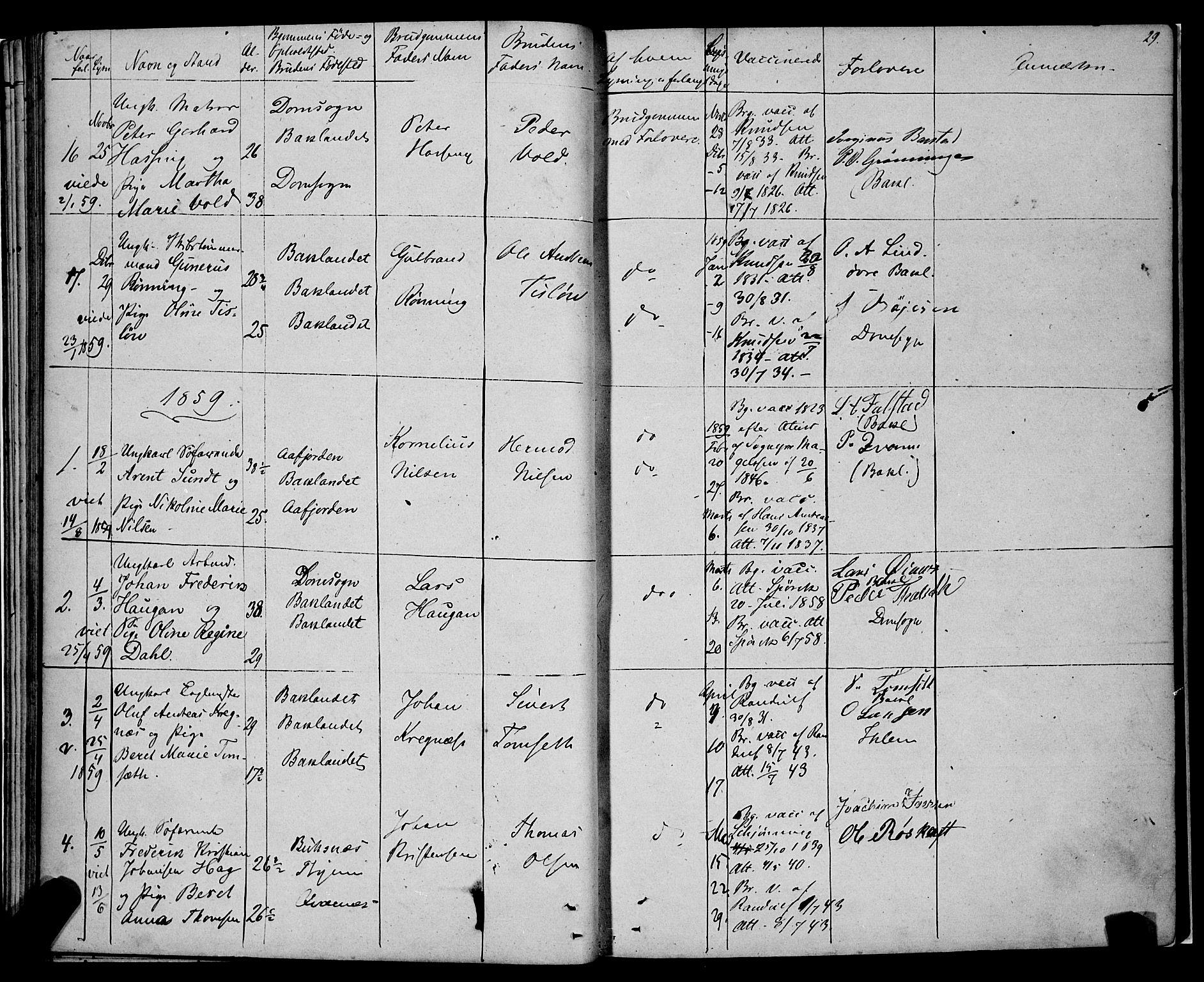 SAT, Ministerialprotokoller, klokkerbøker og fødselsregistre - Sør-Trøndelag, 604/L0187: Ministerialbok nr. 604A08, 1847-1878, s. 29