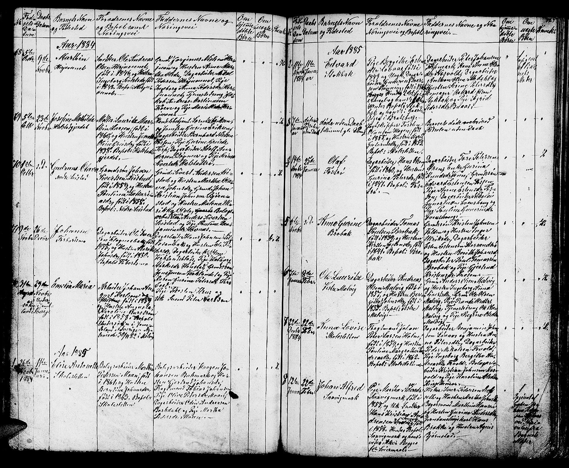 SAT, Ministerialprotokoller, klokkerbøker og fødselsregistre - Sør-Trøndelag, 616/L0422: Klokkerbok nr. 616C05, 1850-1888, s. 127