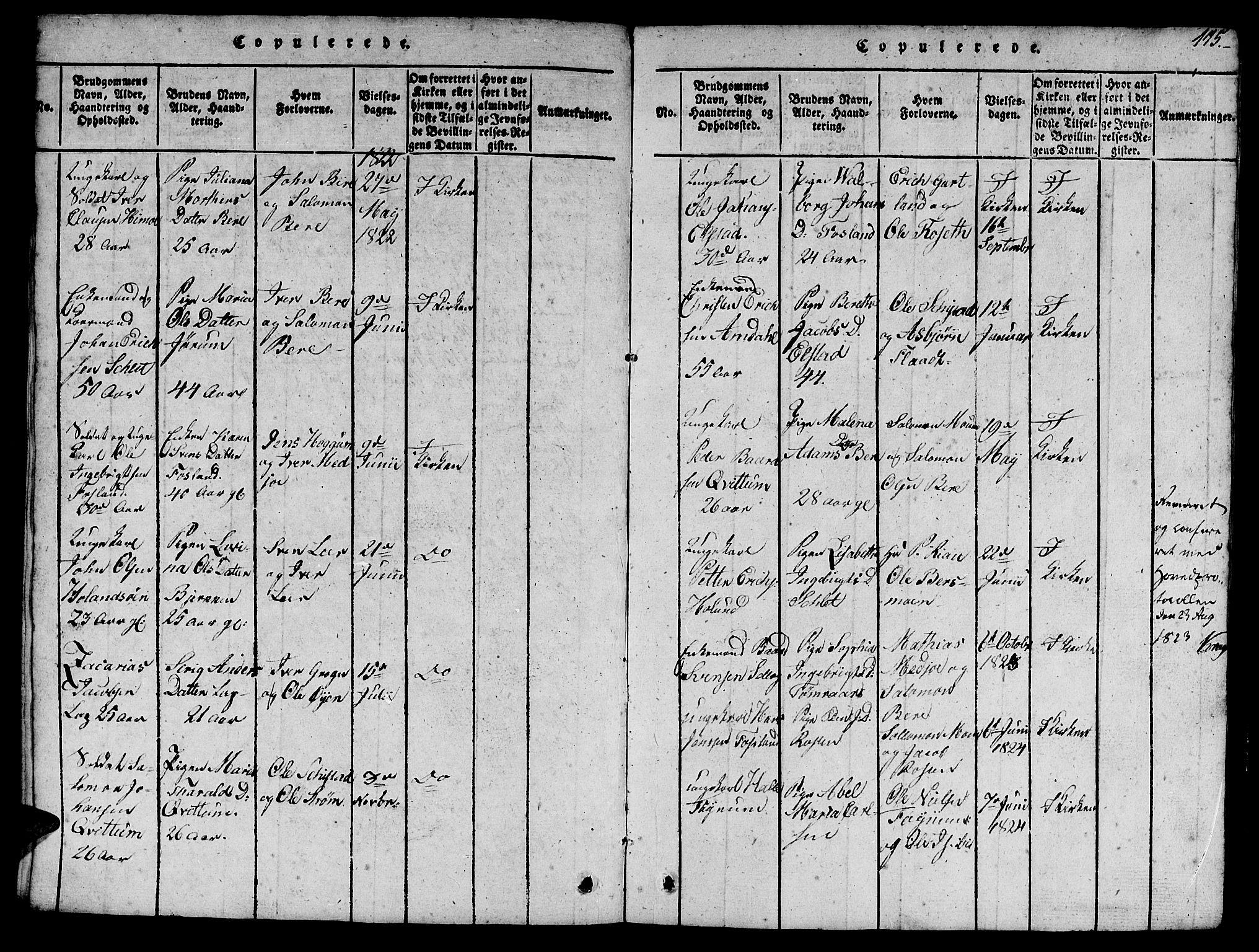 SAT, Ministerialprotokoller, klokkerbøker og fødselsregistre - Nord-Trøndelag, 758/L0521: Klokkerbok nr. 758C01, 1816-1825, s. 115