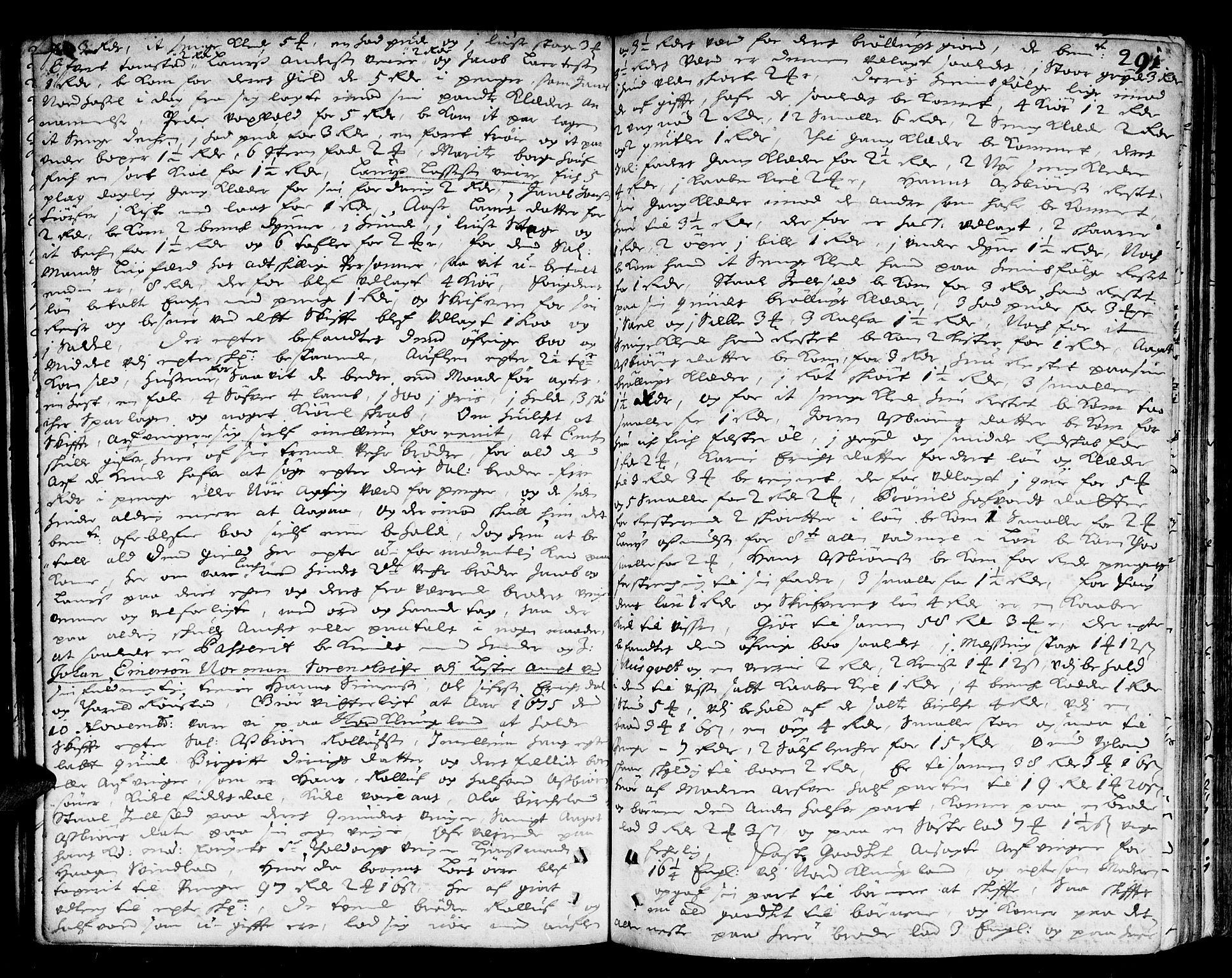 SAK, Lister sorenskriveri, H/Hc/L0003: Skifteprotokoll nr 3 med register, 1672-1682, s. 290b-291a