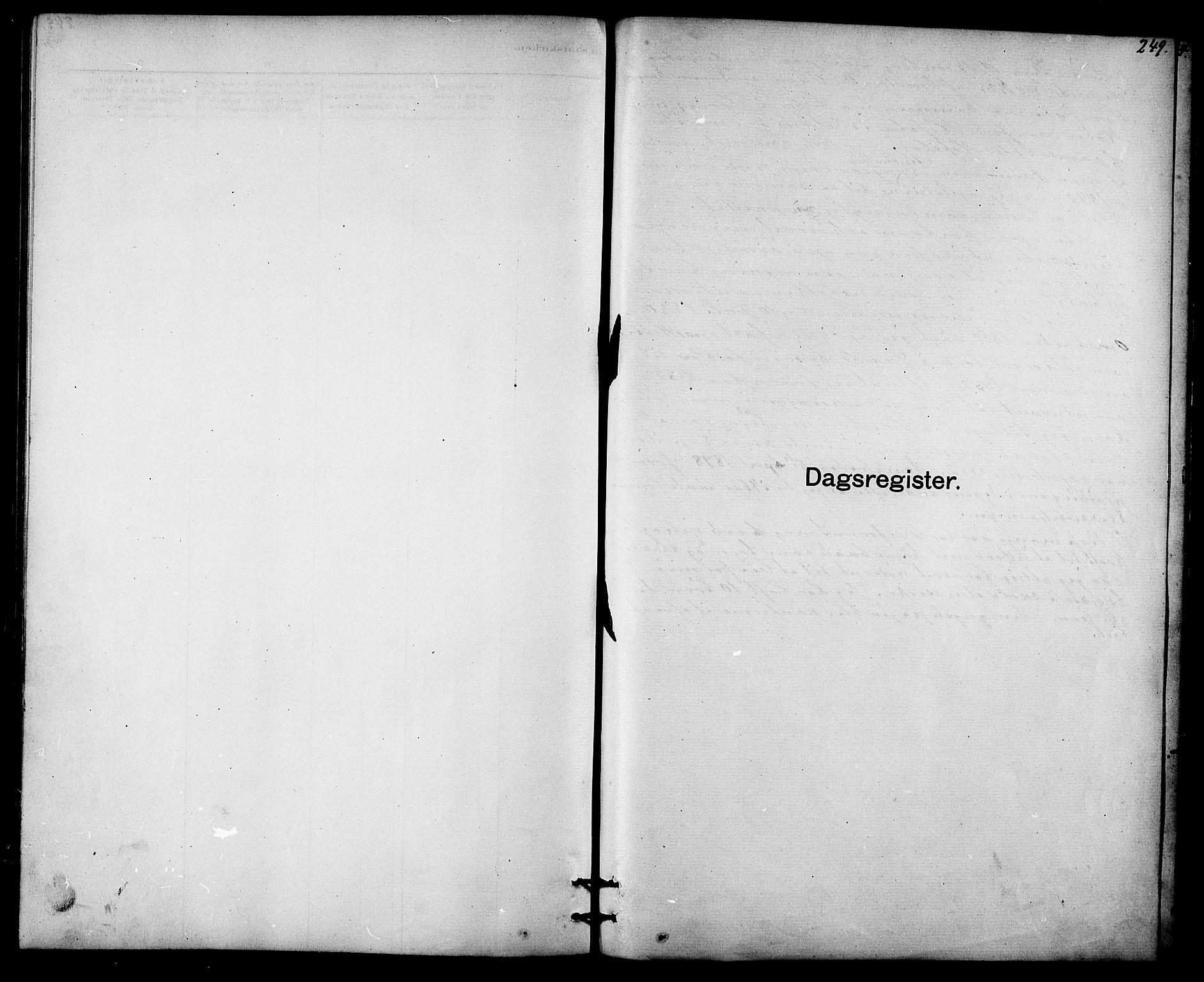 SAT, Ministerialprotokoller, klokkerbøker og fødselsregistre - Sør-Trøndelag, 613/L0395: Klokkerbok nr. 613C03, 1887-1909, s. 249
