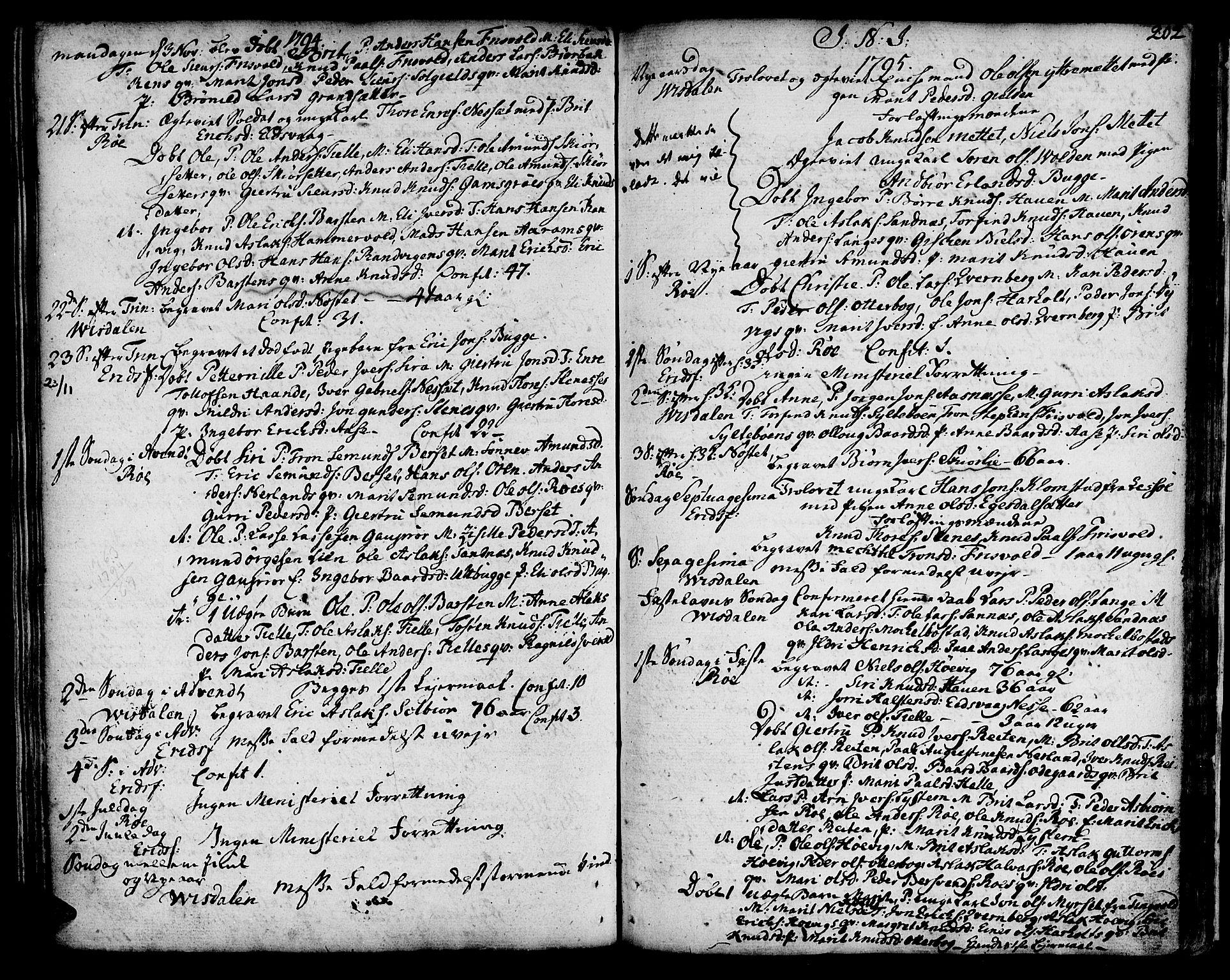 SAT, Ministerialprotokoller, klokkerbøker og fødselsregistre - Møre og Romsdal, 551/L0621: Ministerialbok nr. 551A01, 1757-1803, s. 202