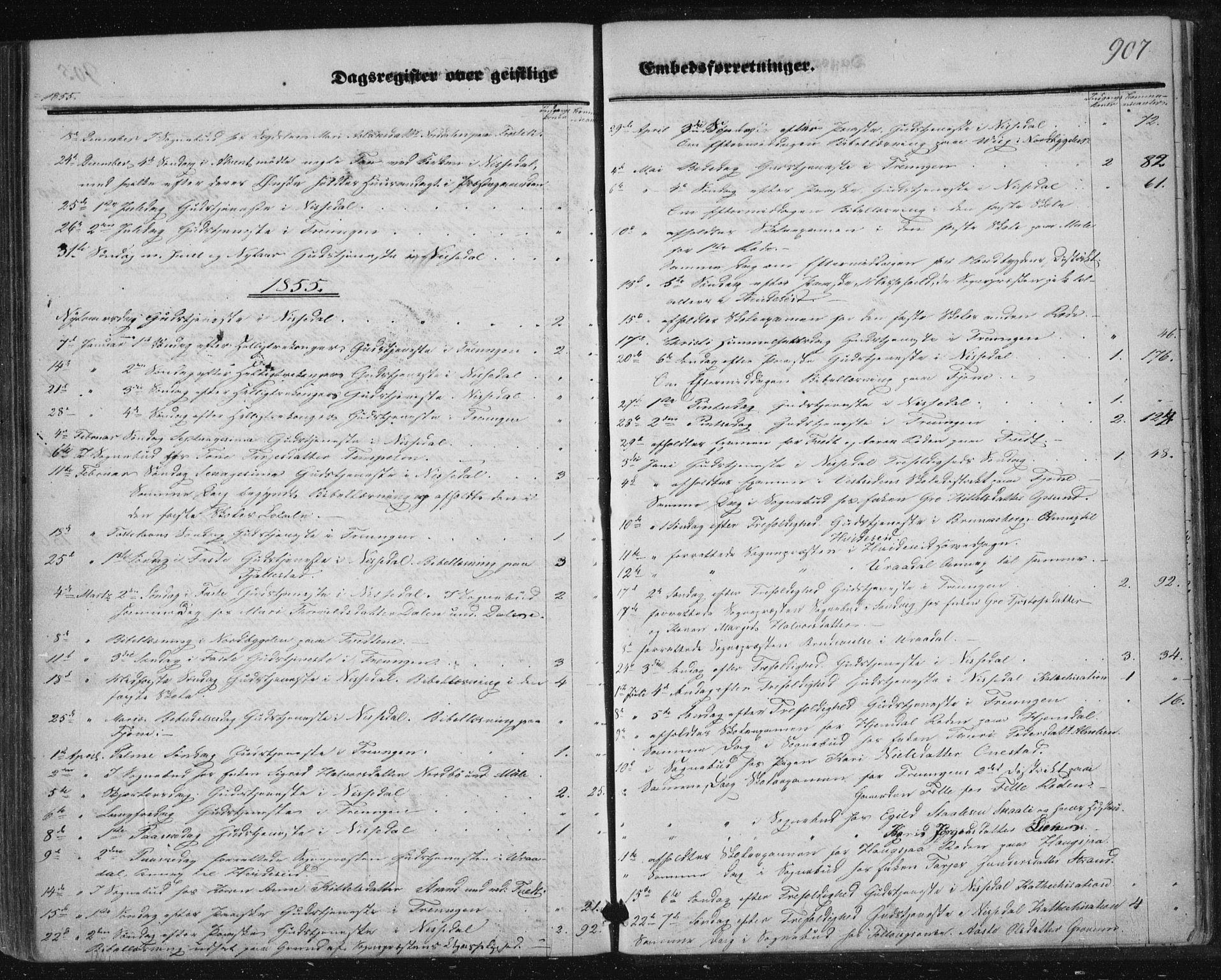 SAKO, Nissedal kirkebøker, F/Fa/L0003: Ministerialbok nr. I 3, 1846-1870, s. 906-907