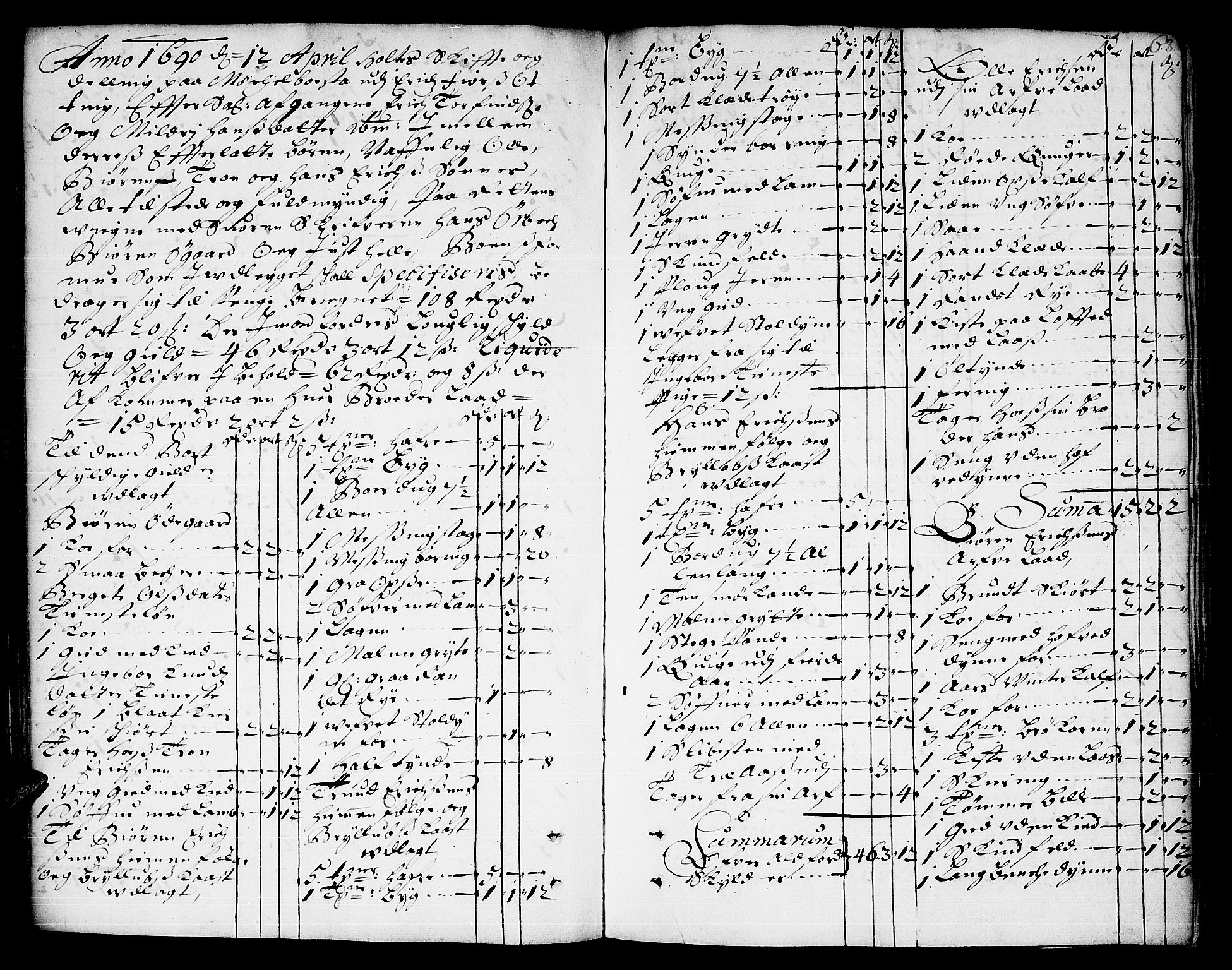 SAT, Romsdal sorenskriveri, 3/3A/L0003: Skifteprotokoll, 1688-1690, s. 67b-68a