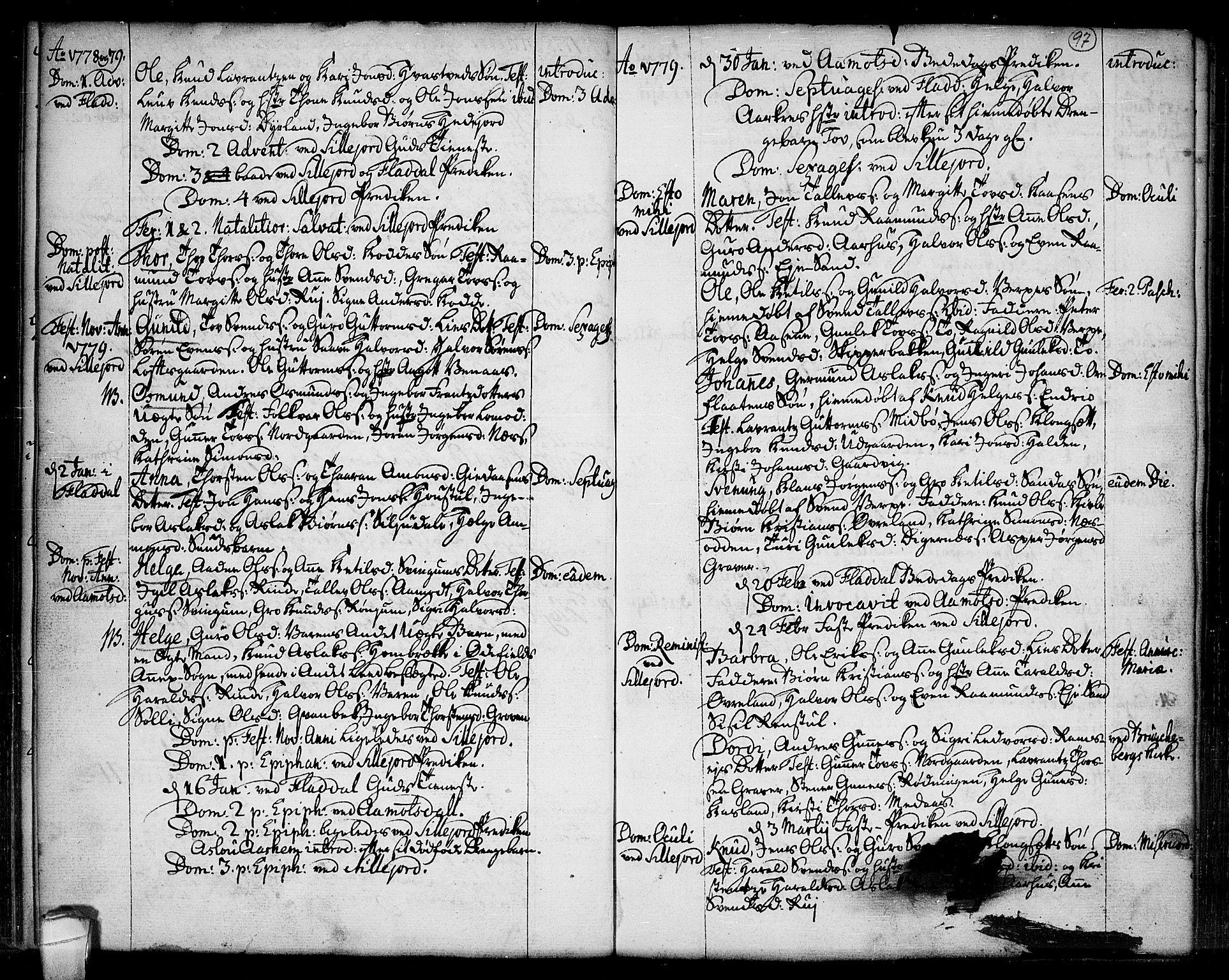 SAKO, Seljord kirkebøker, F/Fa/L0007: Ministerialbok nr. I 7, 1755-1800, s. 97