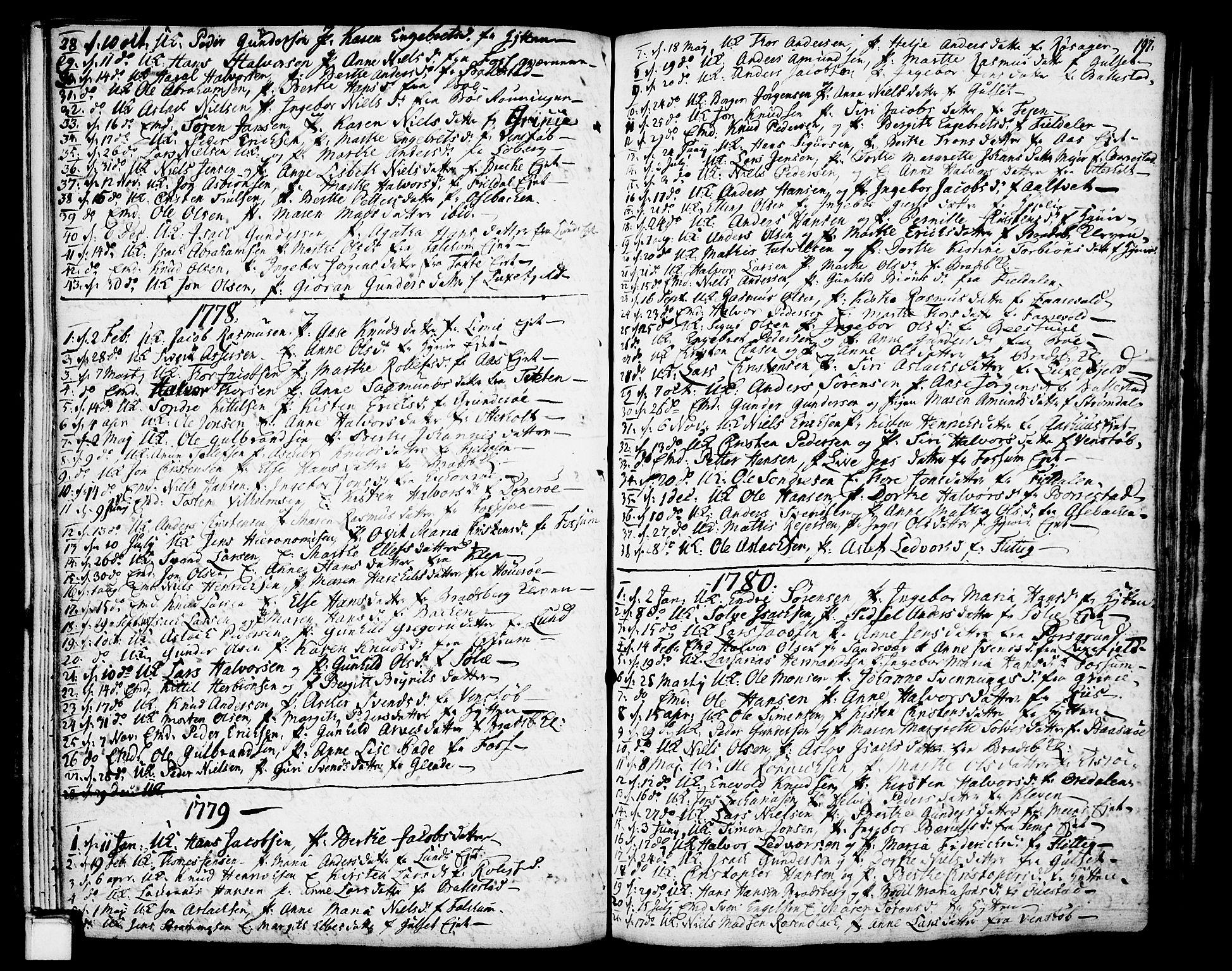 SAKO, Gjerpen kirkebøker, F/Fa/L0002: Ministerialbok nr. 2, 1747-1795, s. 197