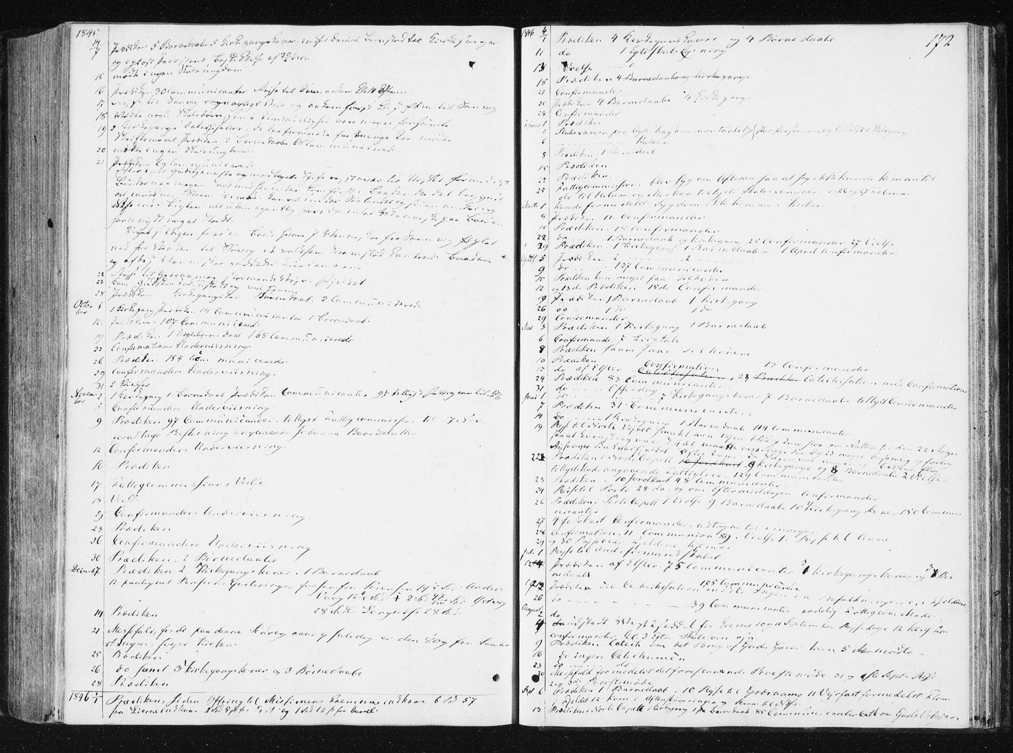 SAT, Ministerialprotokoller, klokkerbøker og fødselsregistre - Nord-Trøndelag, 749/L0470: Ministerialbok nr. 749A04, 1834-1853, s. 172