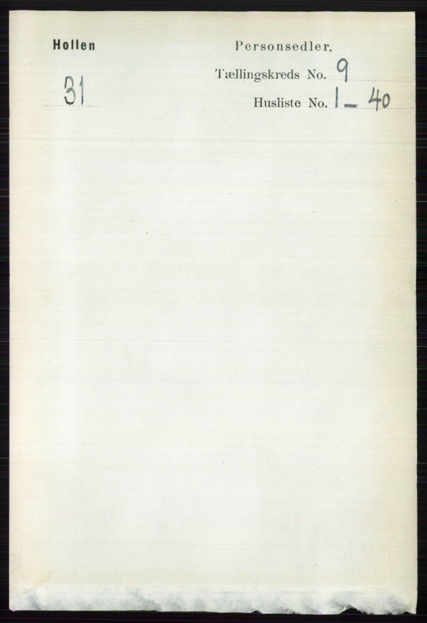 RA, Folketelling 1891 for 0819 Holla herred, 1891, s. 4089