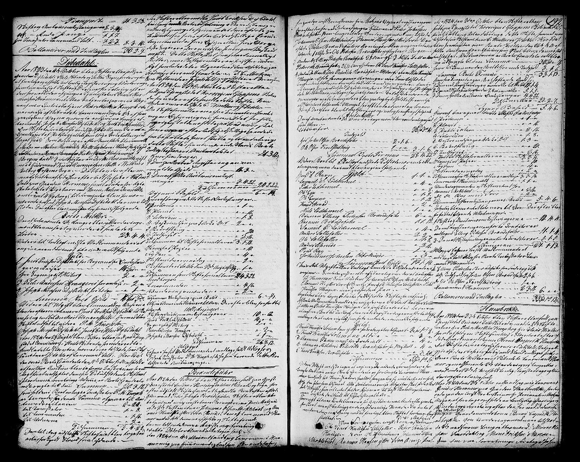 SAB, Nordfjord Sorenskriveri, 04/04a/L0023a: Skifteprotokollar, 1822-1833, s. 191b-192a