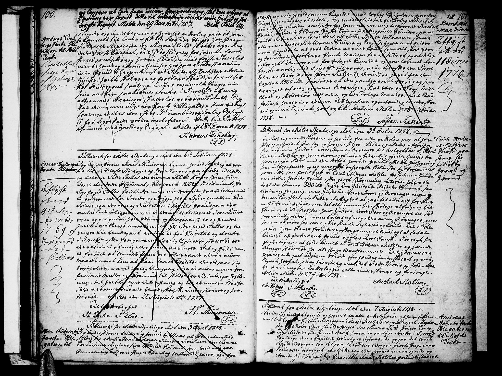 SAT, Molde byfogd, 2C/L0001: Pantebok nr. 1, 1748-1823, s. 100-101