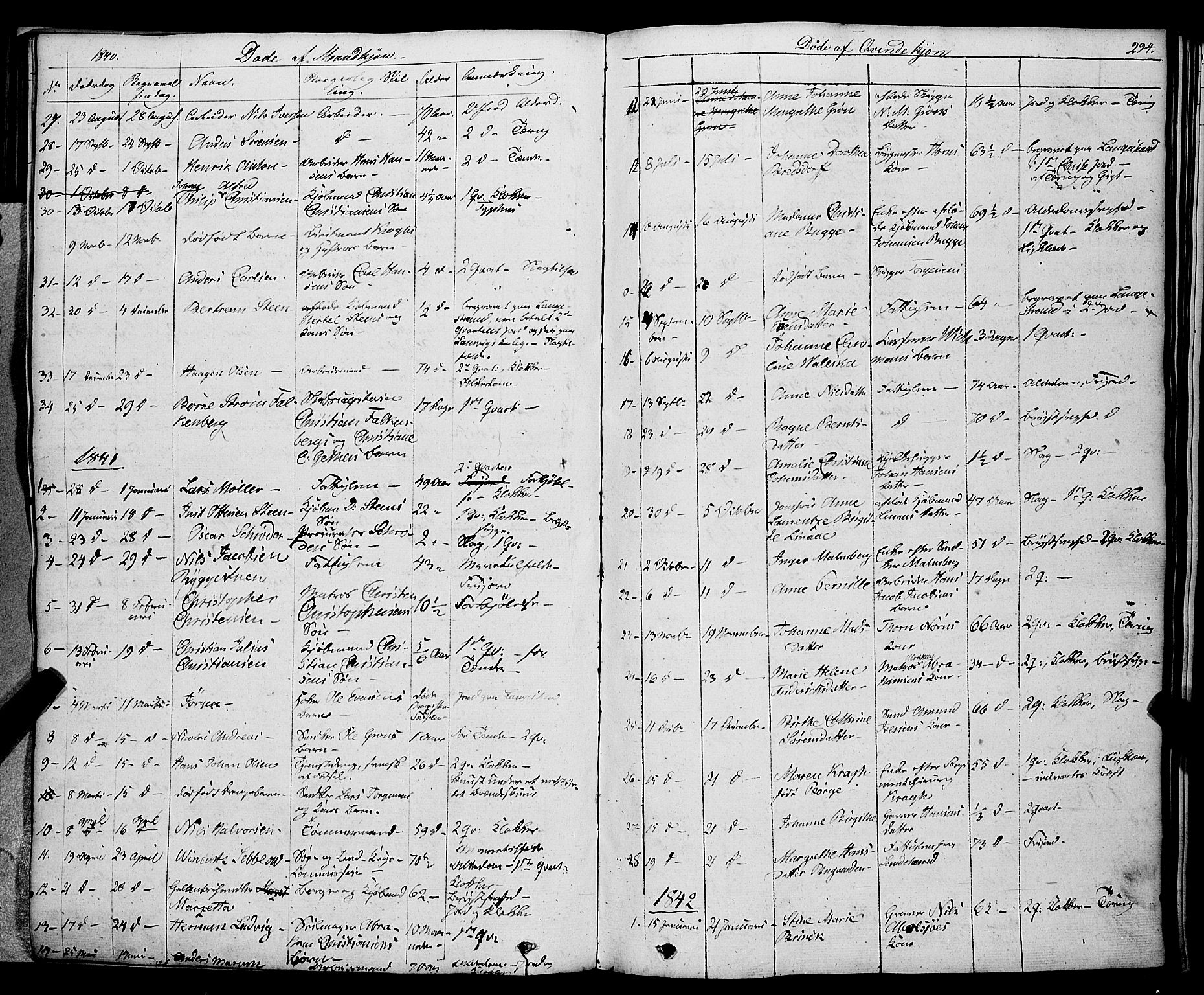 SAKO, Larvik kirkebøker, F/Fa/L0002: Ministerialbok nr. I 2, 1825-1847, s. 294