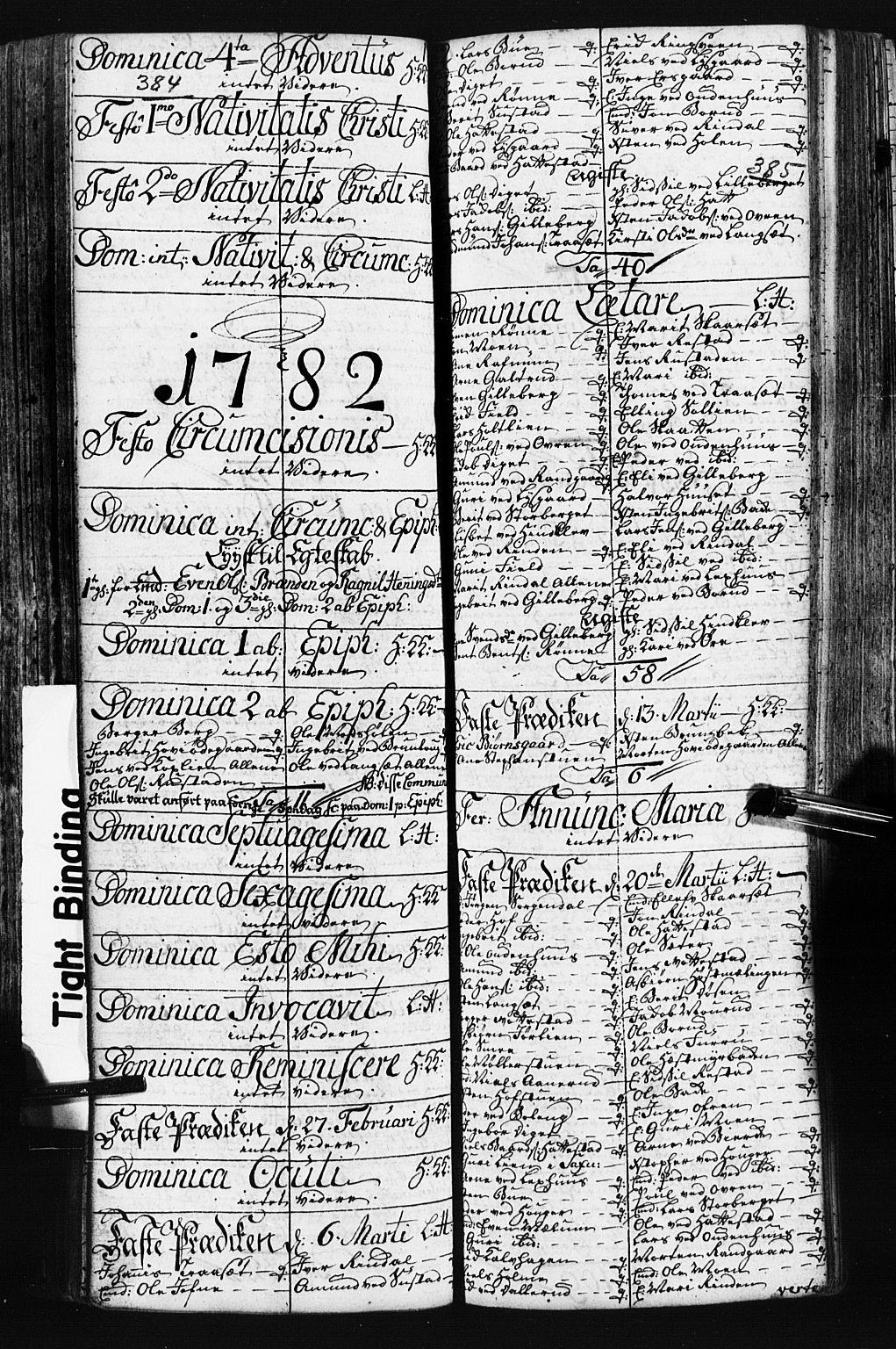 SAH, Fåberg prestekontor, Klokkerbok nr. 3, 1768-1796, s. 384-385