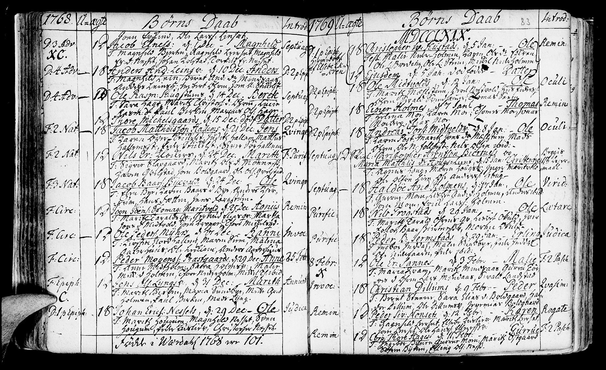 SAT, Ministerialprotokoller, klokkerbøker og fødselsregistre - Nord-Trøndelag, 723/L0231: Ministerialbok nr. 723A02, 1748-1780, s. 83
