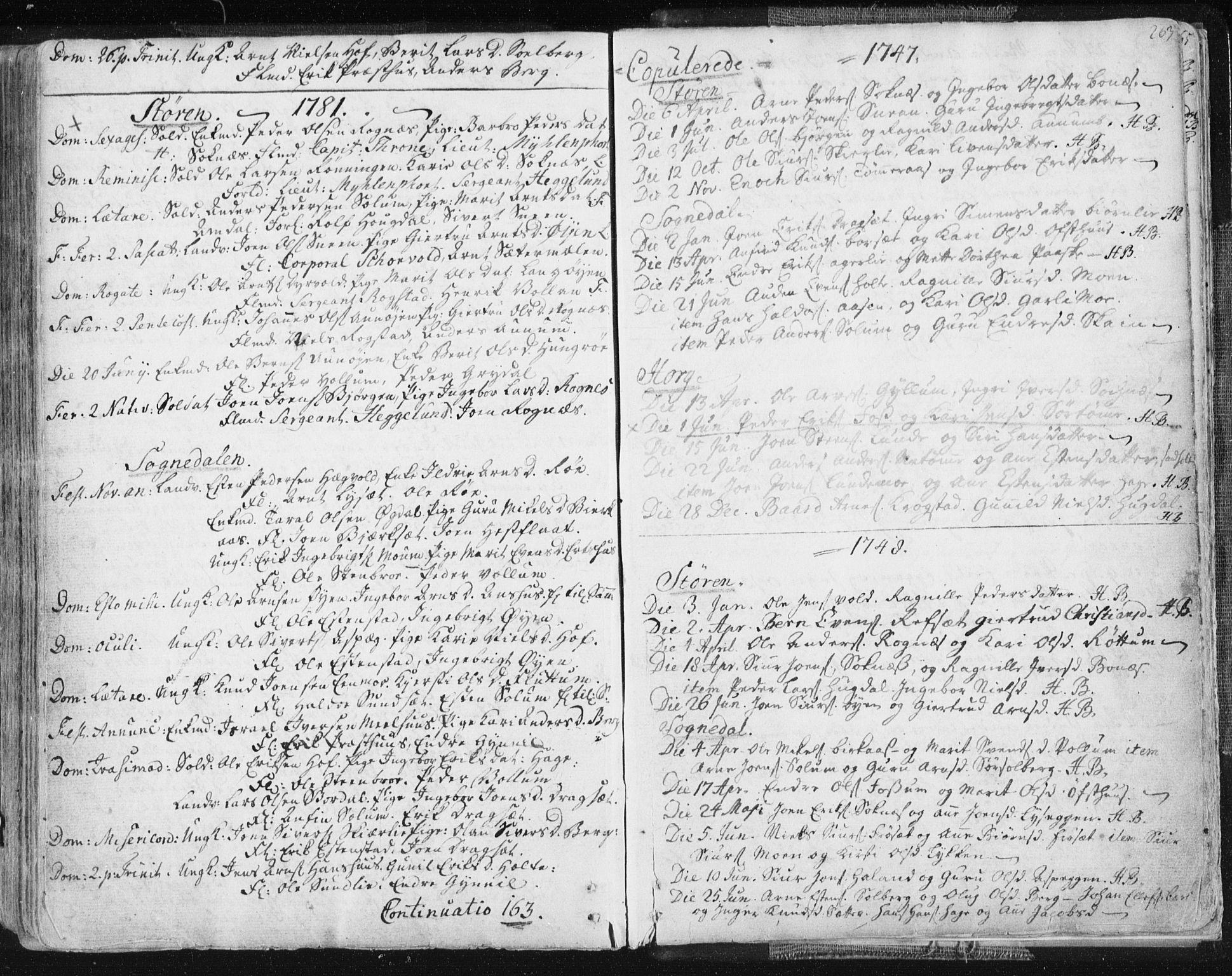 SAT, Ministerialprotokoller, klokkerbøker og fødselsregistre - Sør-Trøndelag, 687/L0991: Ministerialbok nr. 687A02, 1747-1790, s. 263