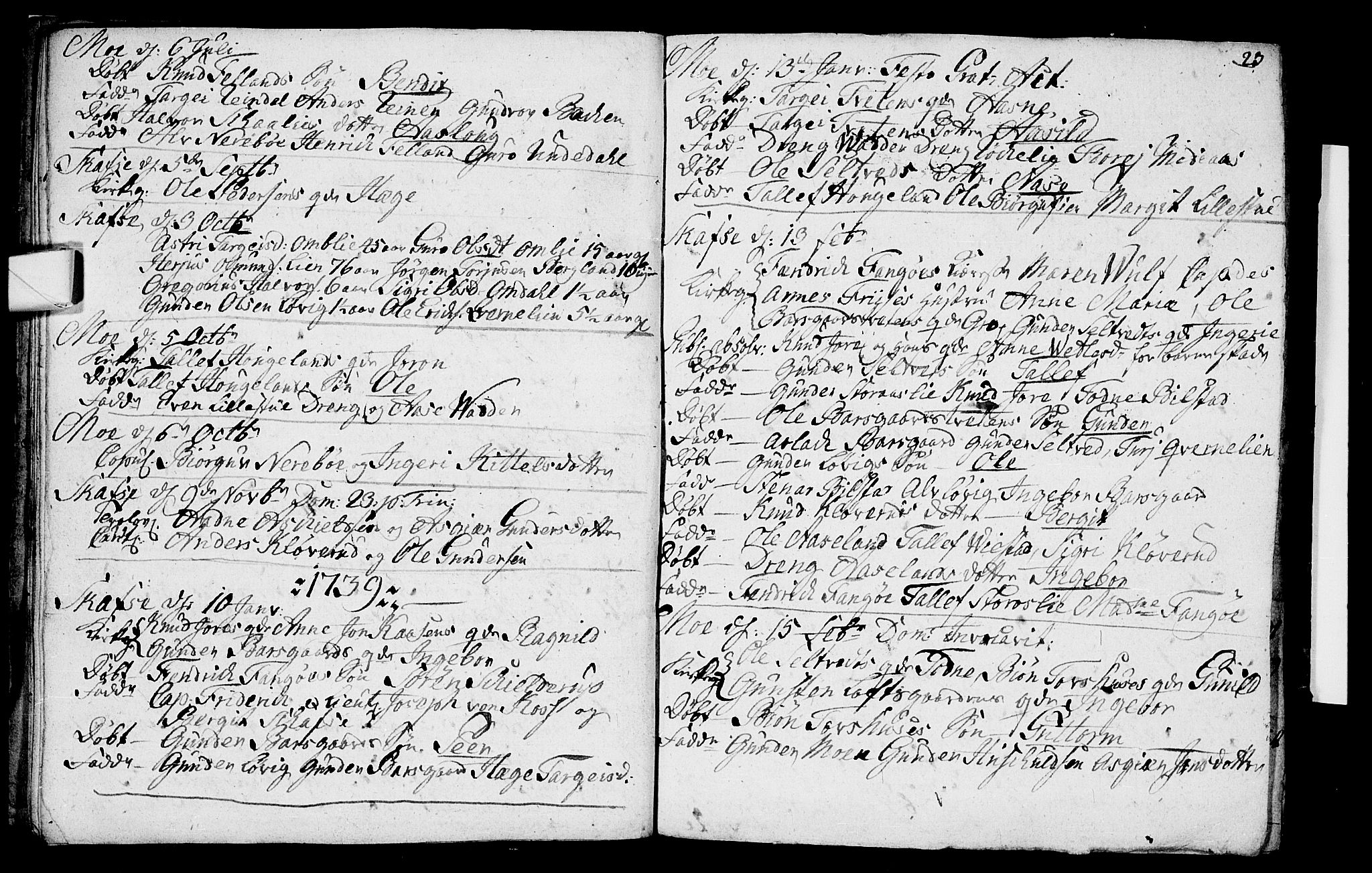 SAKO, Mo kirkebøker, F/Fa/L0001: Ministerialbok nr. I 1, 1724-1748, s. 23