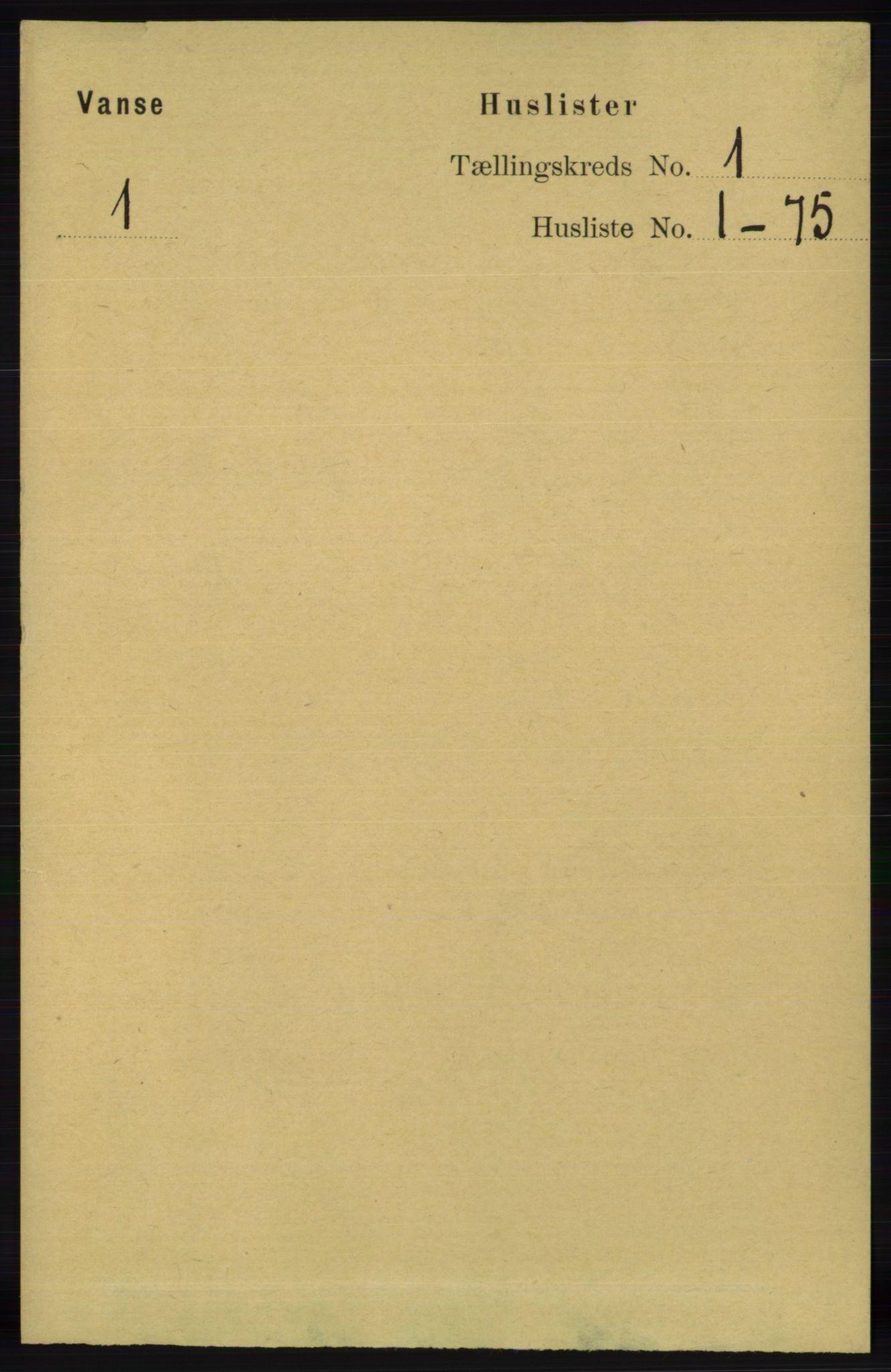 RA, Folketelling 1891 for 1041 Vanse herred, 1891, s. 49