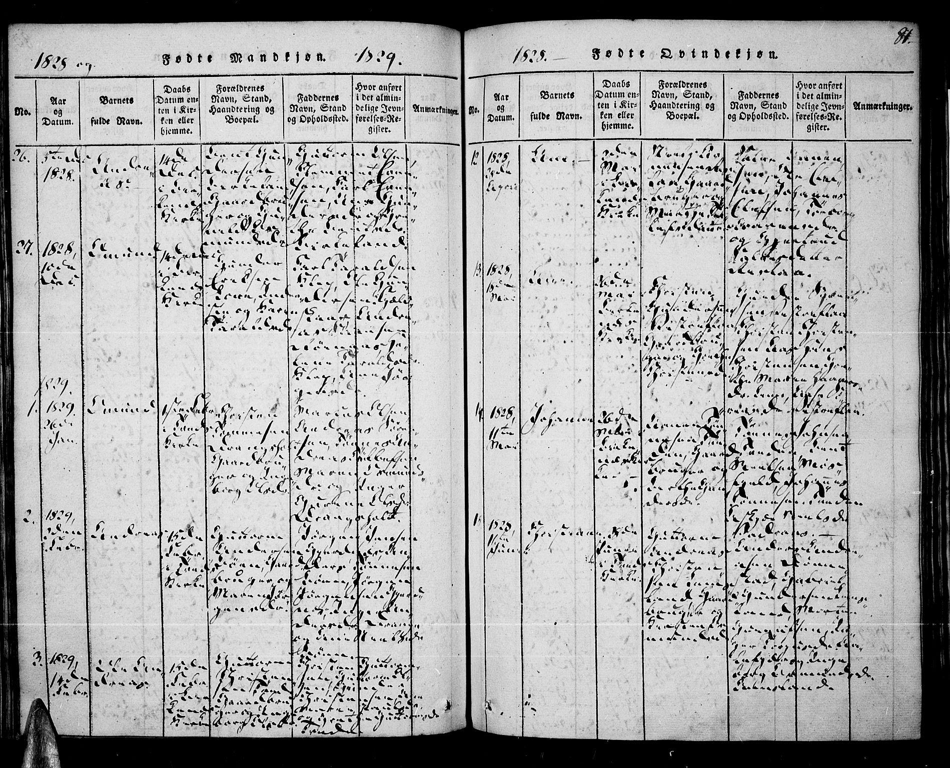 SAK, Tveit sokneprestkontor, F/Fa/L0002: Ministerialbok nr. A 2, 1820-1830, s. 81