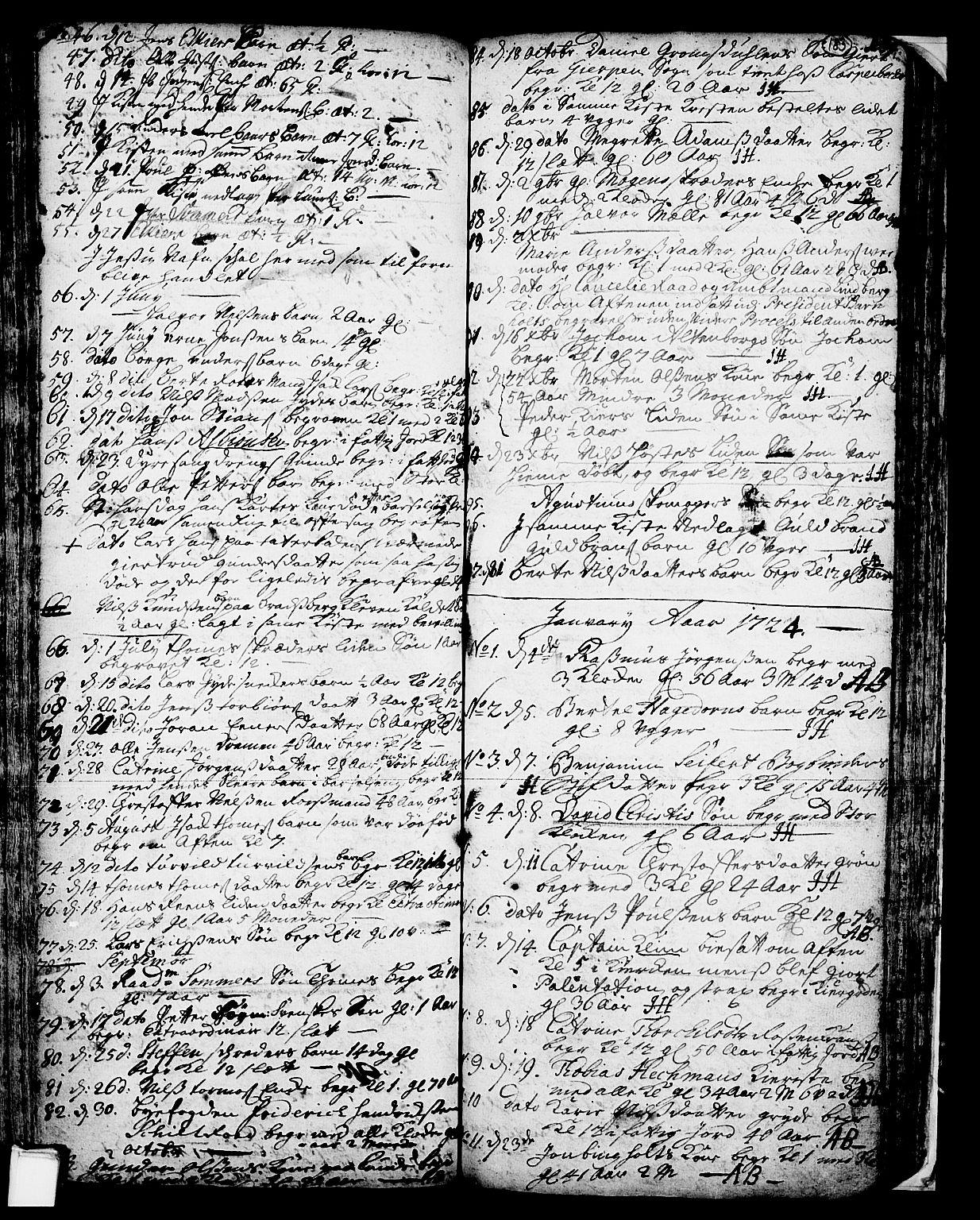 SAKO, Skien kirkebøker, F/Fa/L0002: Ministerialbok nr. 2, 1716-1757, s. 183