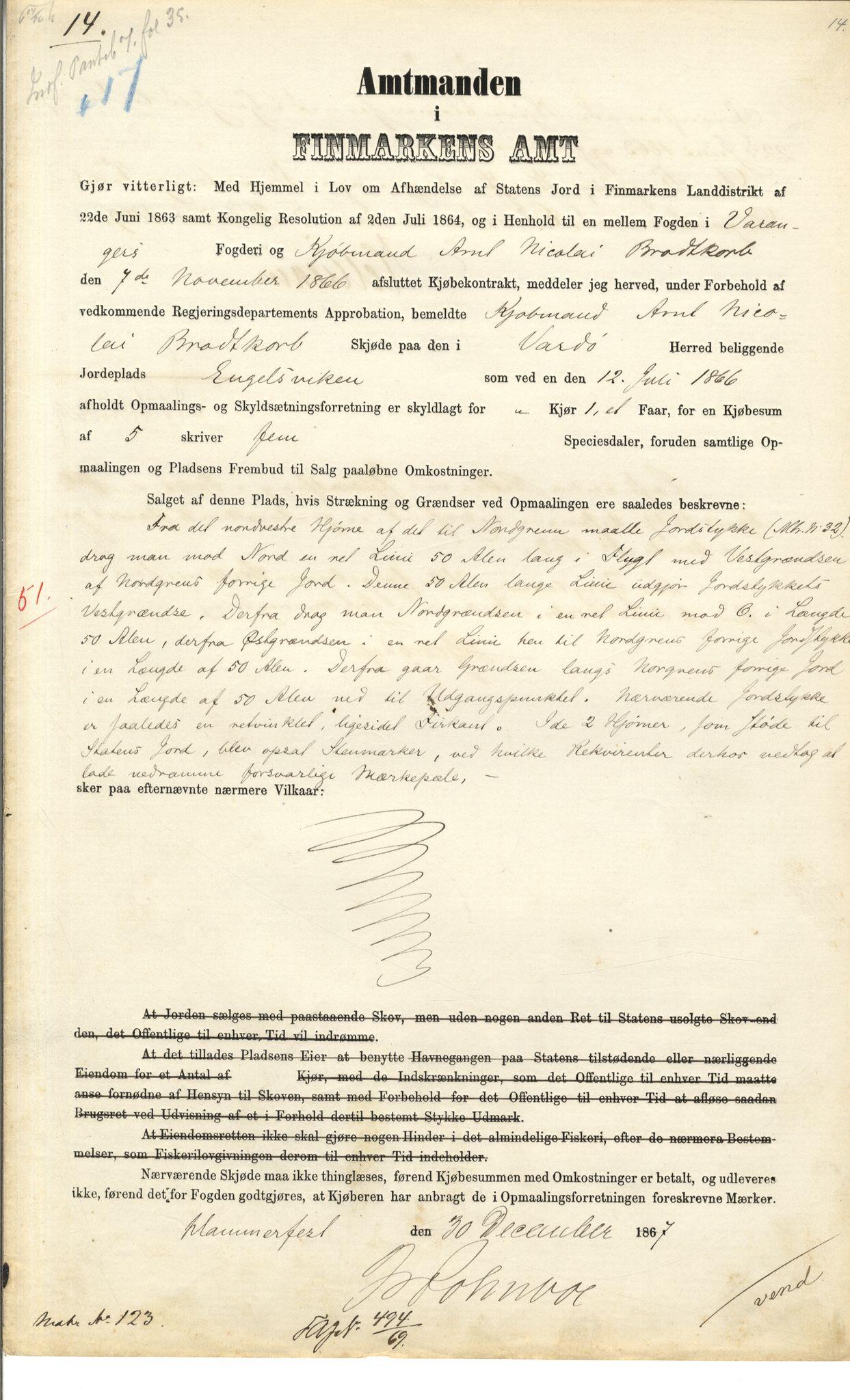 VAMU, Brodtkorb handel A/S, Q/Qb/L0003: Faste eiendommer i Vardø Herred, 1862-1939, s. 326