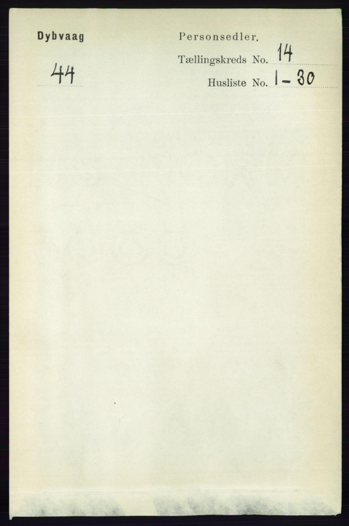 RA, Folketelling 1891 for 0915 Dypvåg herred, 1891, s. 5775