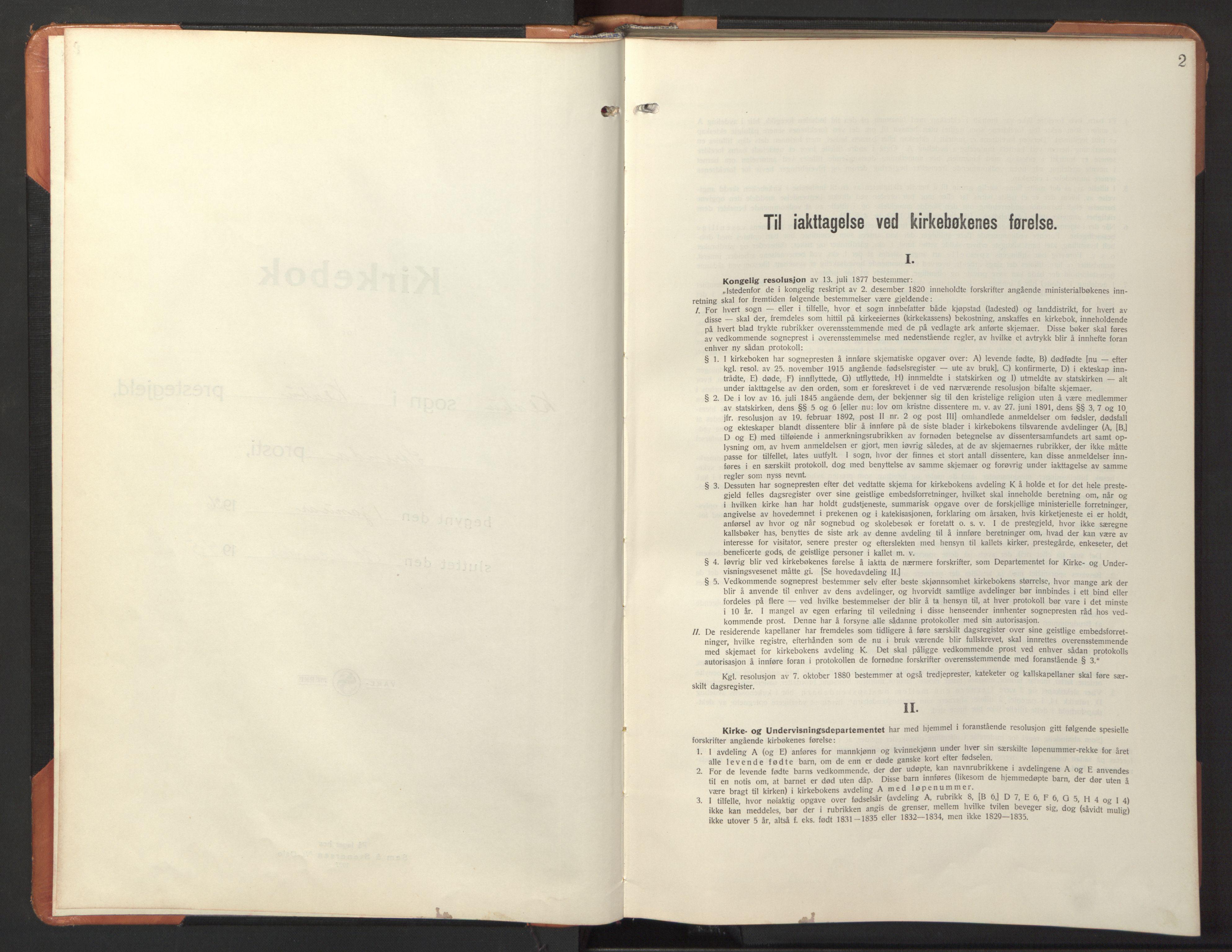 SAT, Ministerialprotokoller, klokkerbøker og fødselsregistre - Sør-Trøndelag, 618/L0454: Klokkerbok nr. 618C05, 1926-1946, s. 2