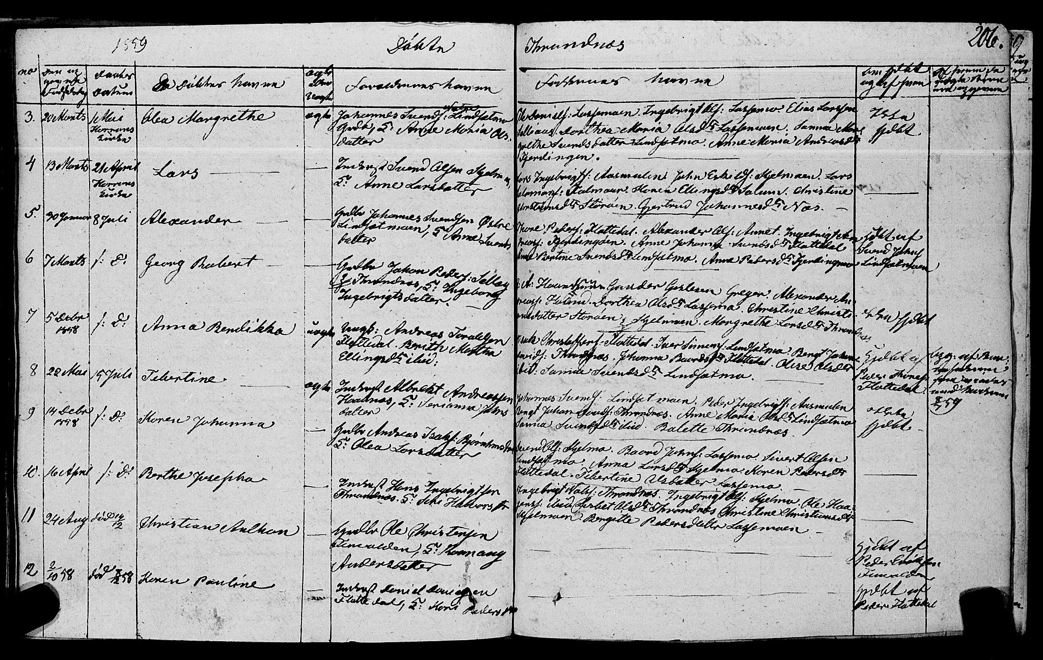 SAT, Ministerialprotokoller, klokkerbøker og fødselsregistre - Nord-Trøndelag, 762/L0538: Ministerialbok nr. 762A02 /2, 1833-1879, s. 206